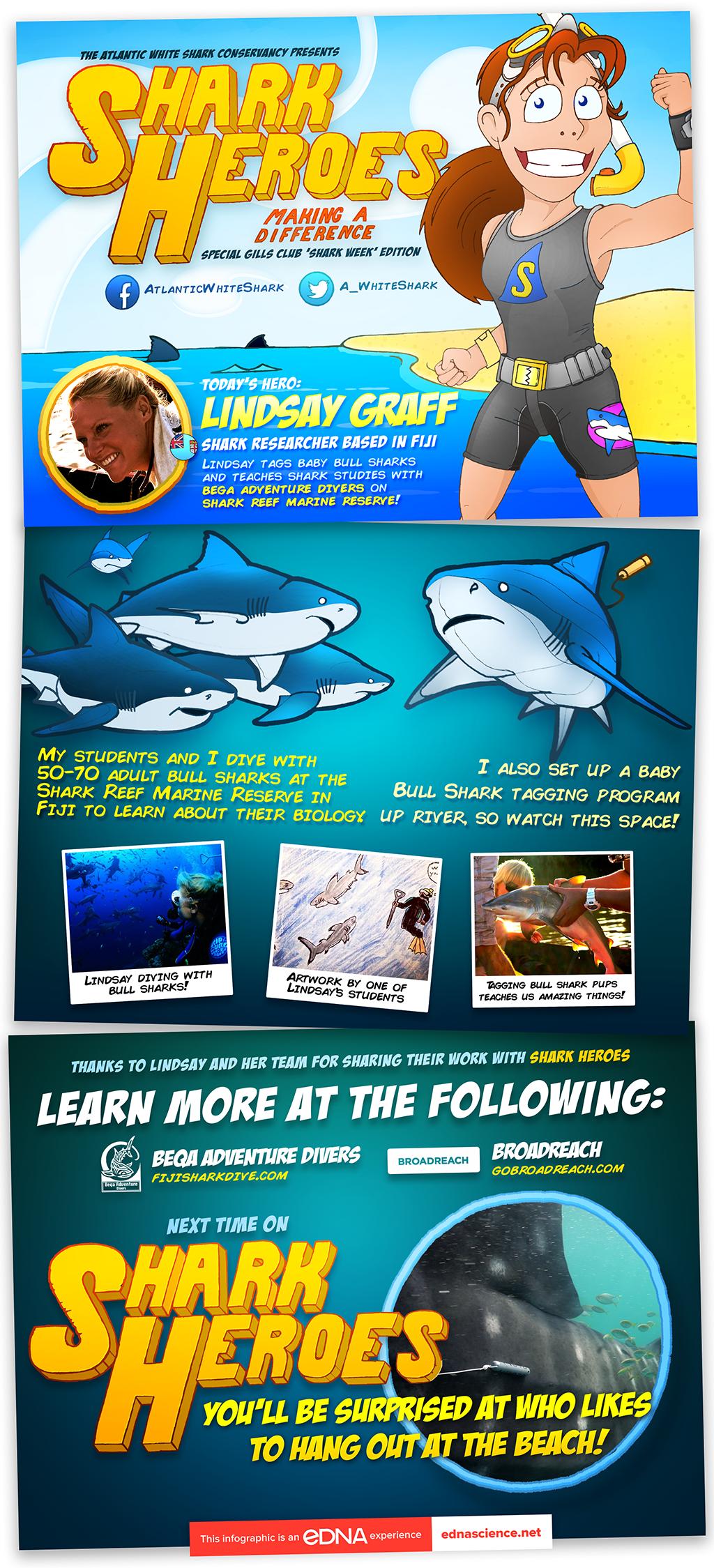 Lindsay Graff - Shark Hero