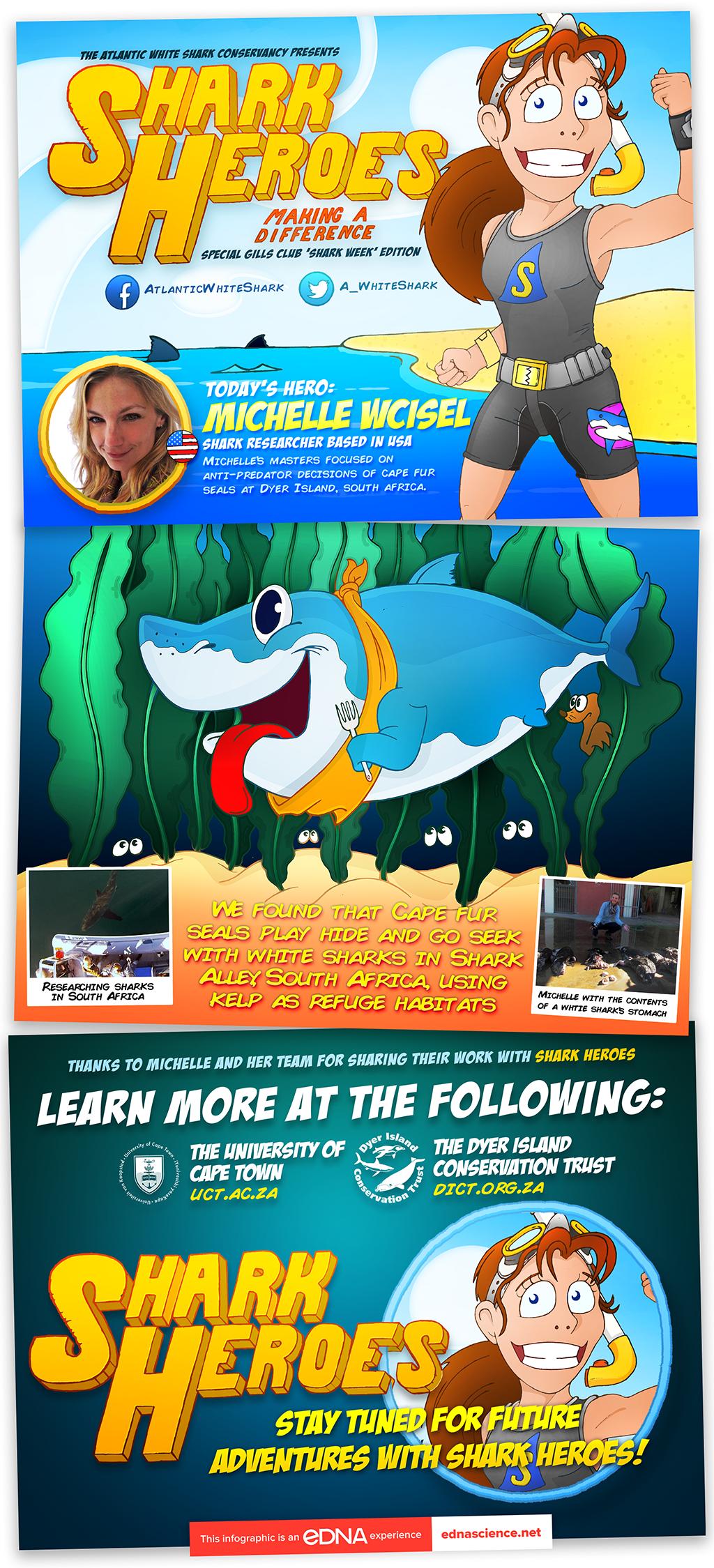 Michelle Wcisel - Shark Hero!