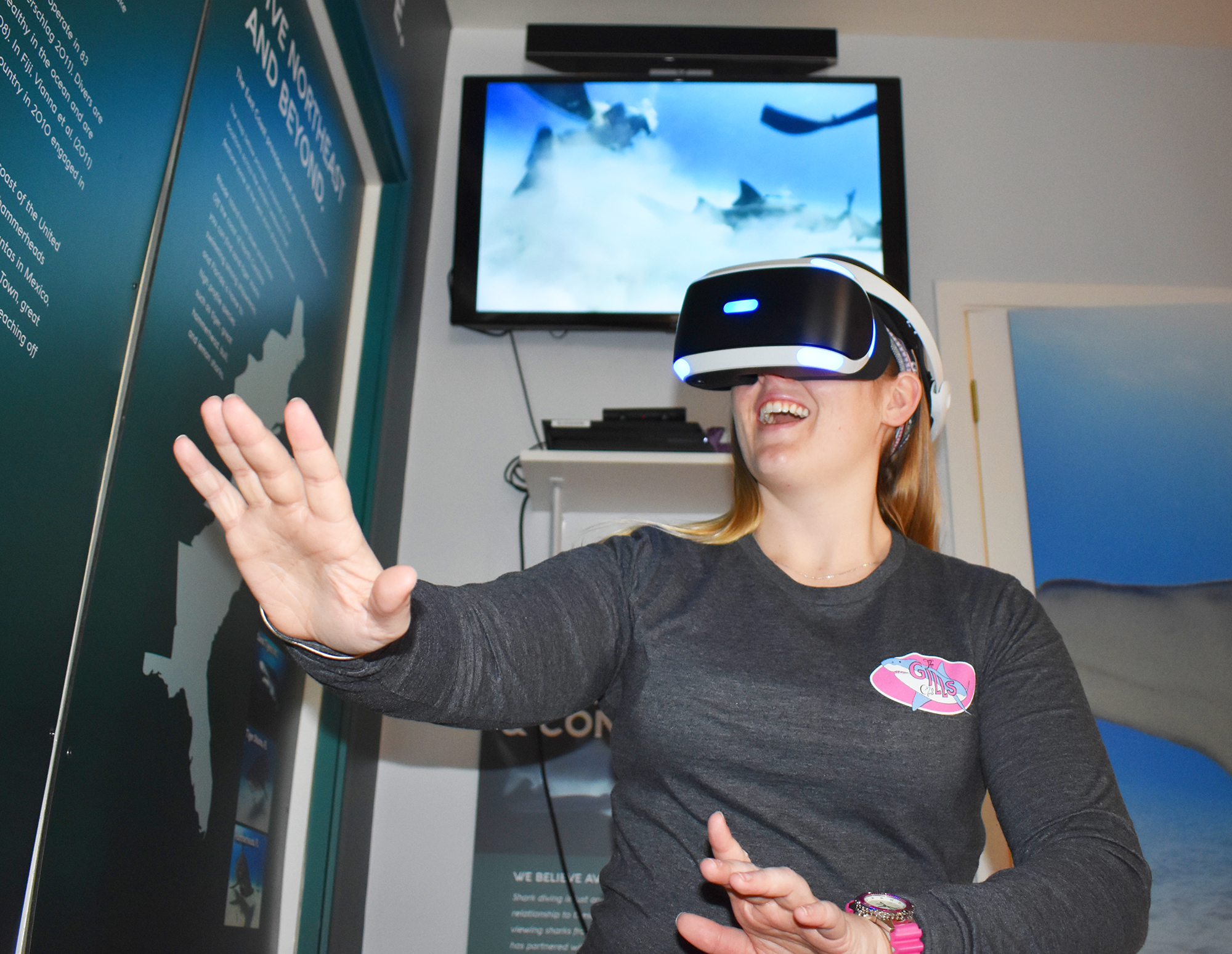 The Center's Virtual Reality experience provides guests of all ages with an up-close encounter with several shark species in their natural habitat.