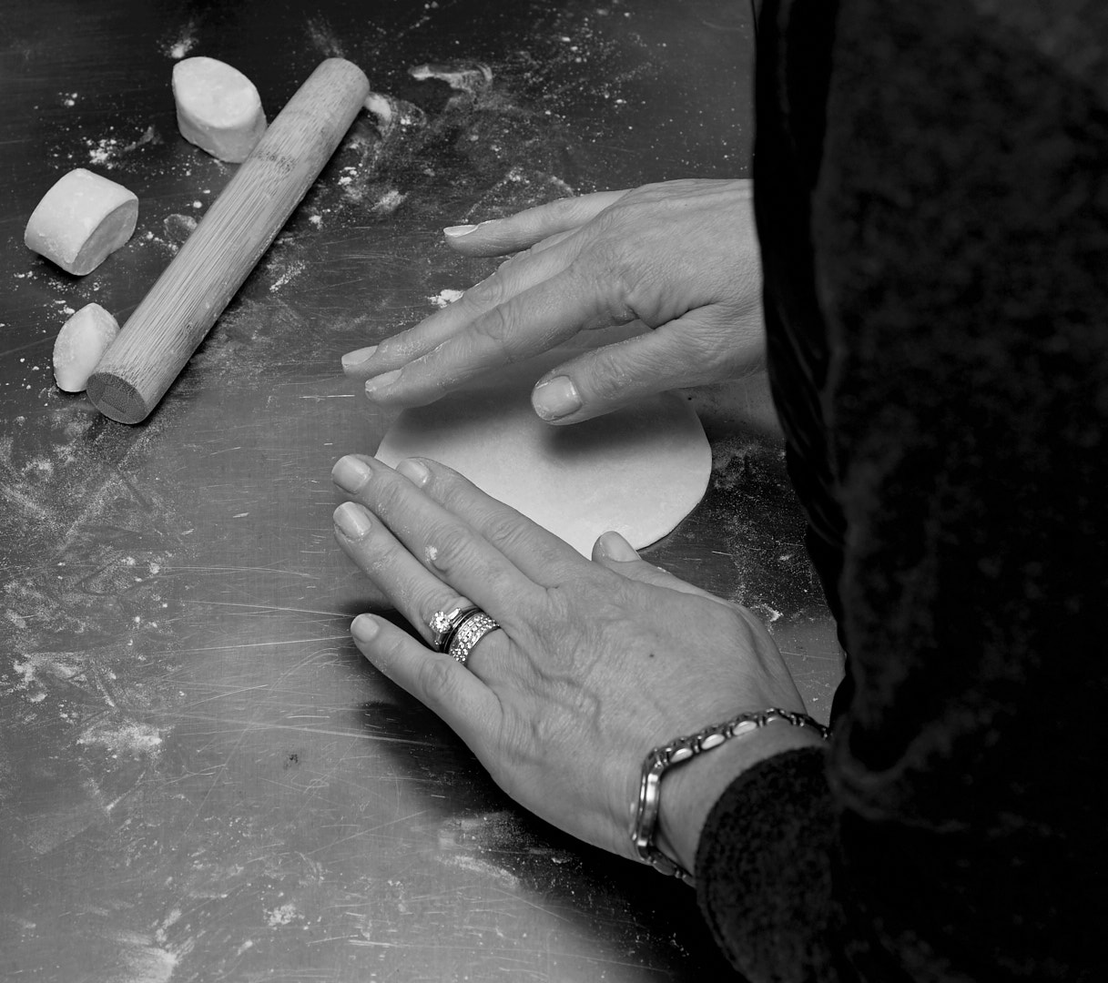 Dumplings Prep | Amy Roth Photo