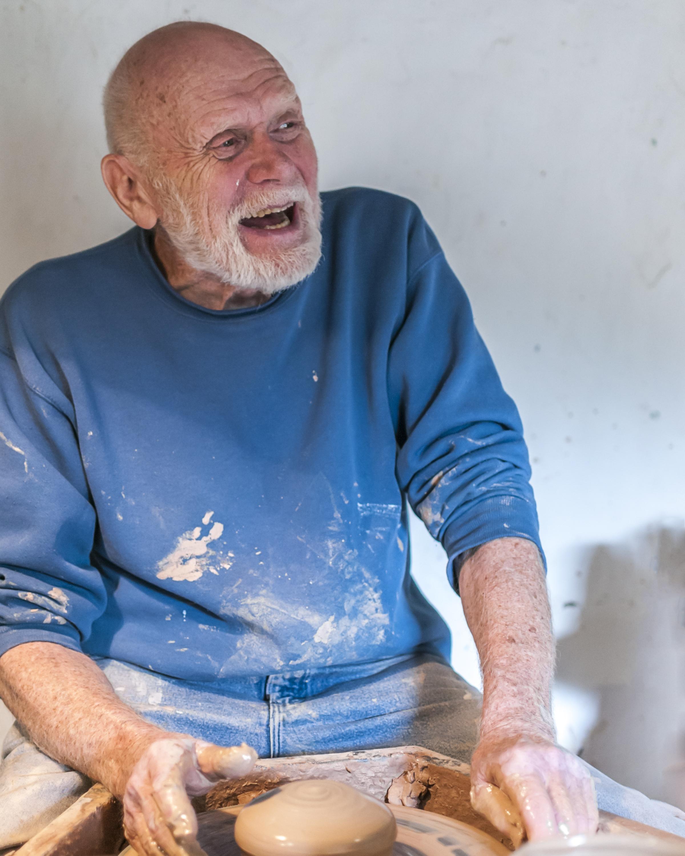 Warren MacKenzie at the Leach Pottery, Sept 2013