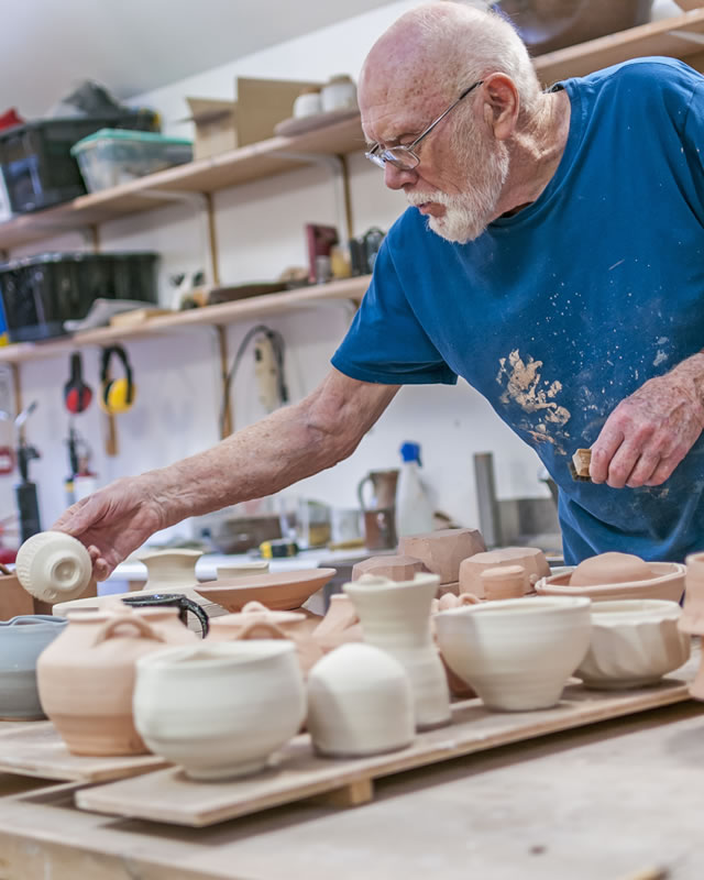 Warren MacKenzie at the Leach Pottery, St Ives 2013