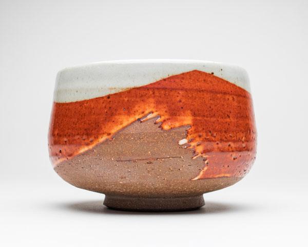 Stoneware Shino Bowl by Callum Trudgeon, 2017.