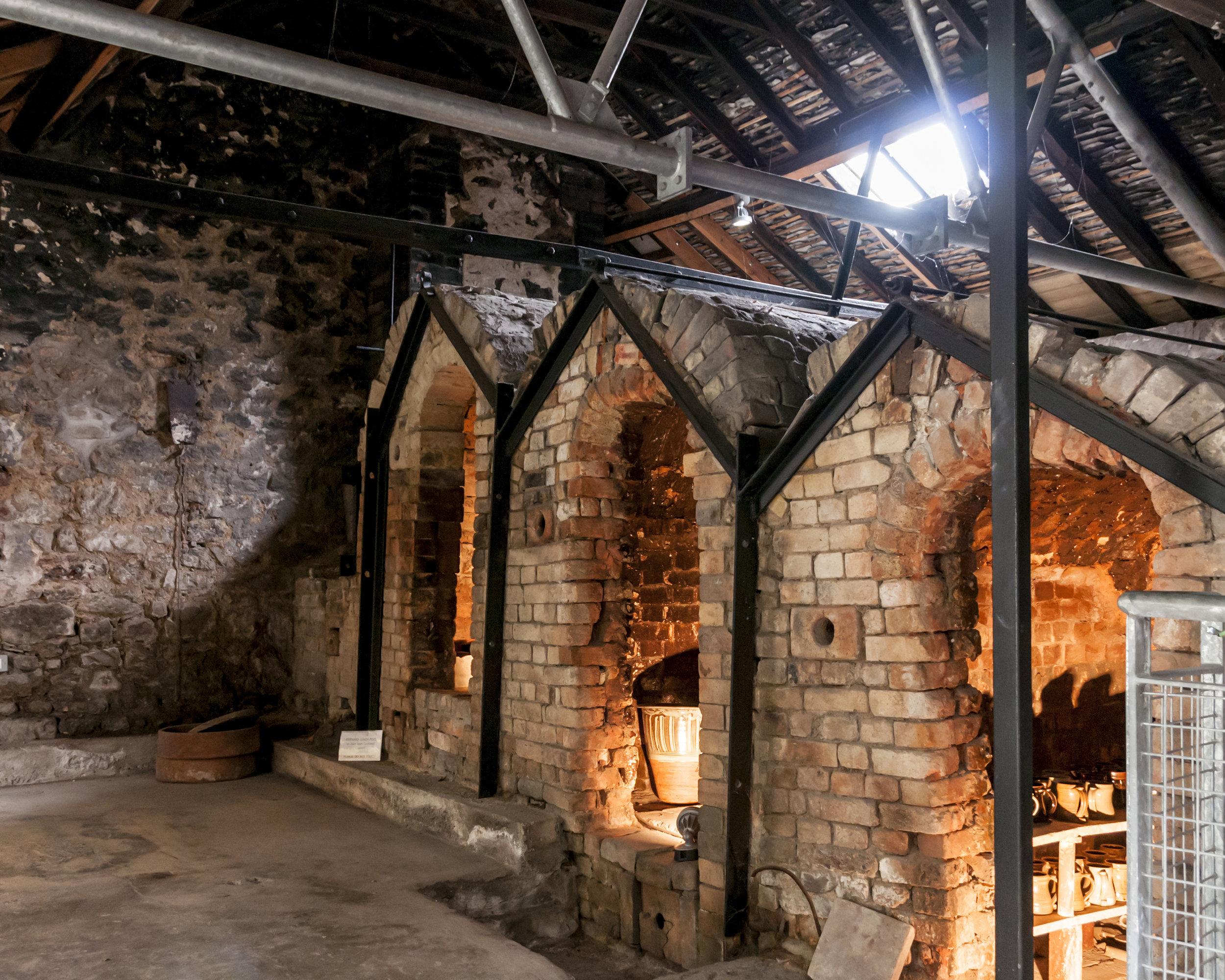 The three chamber Japanese climbing kiln