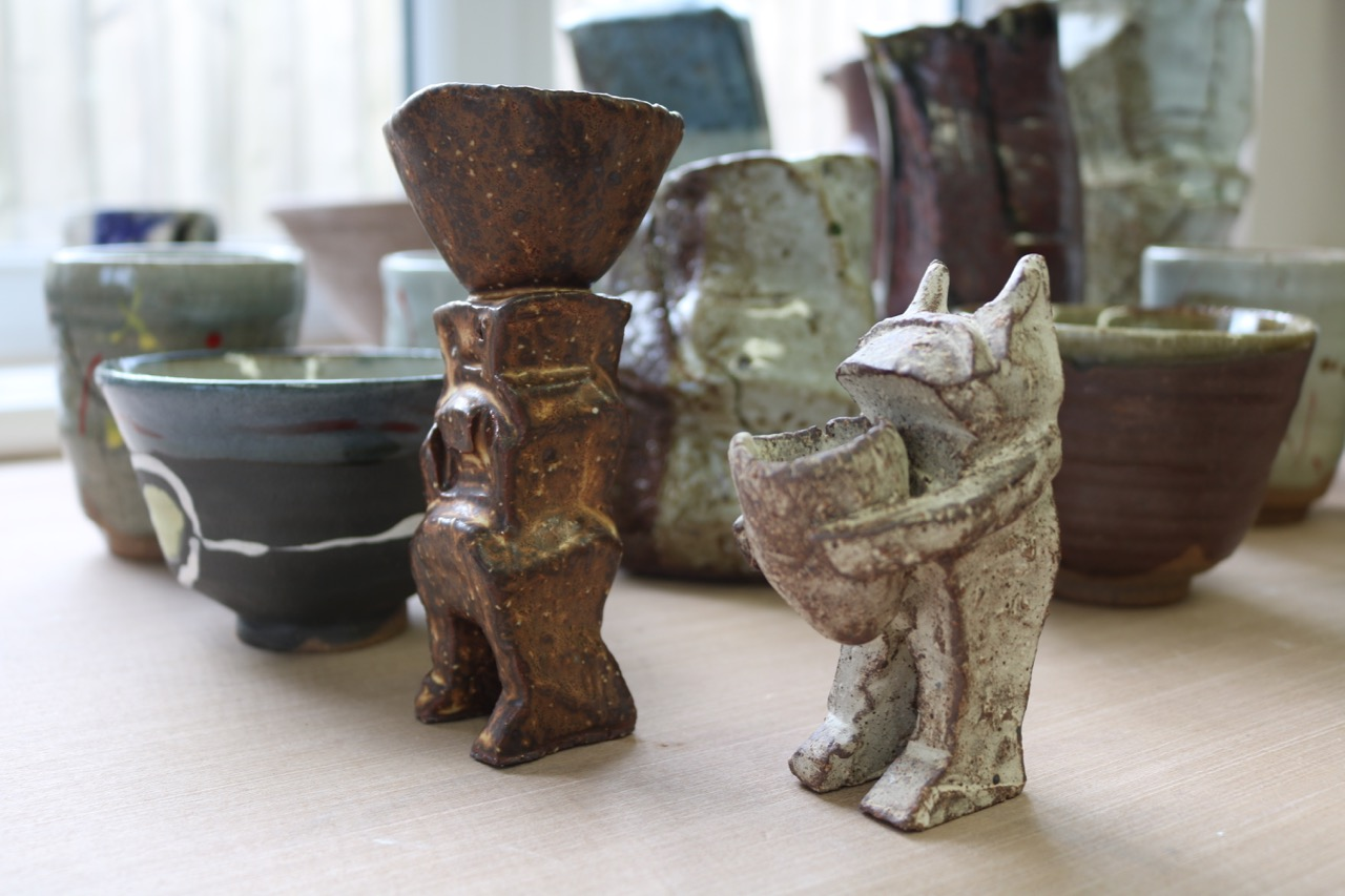 Works made by Clementina on her last visit to the Leach Pottery