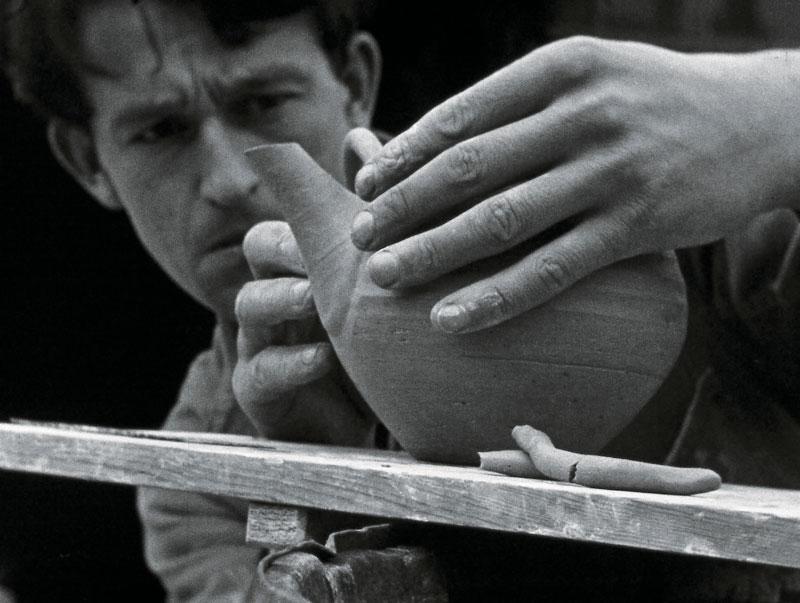 Film Still: Bill Marshall making a teapot