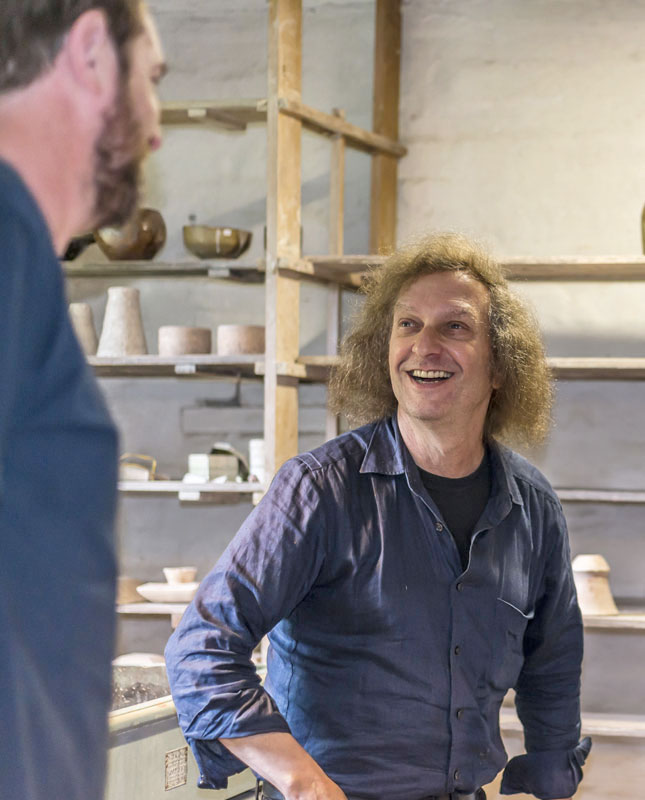 Marty Gross at the Leach Pottery