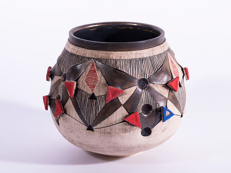 Vessel made in South Africa by Andile Dyalvane