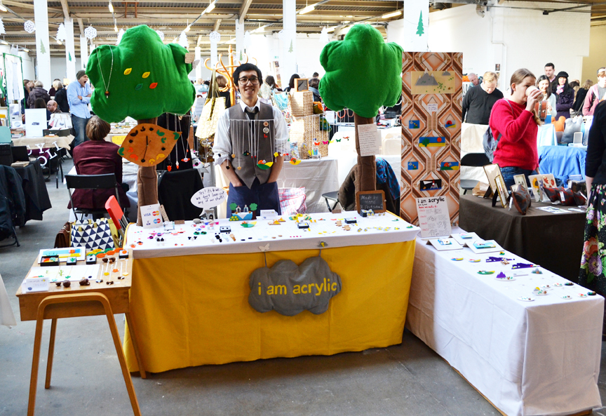 I am Acrylic pictured at Renegade Craft Market