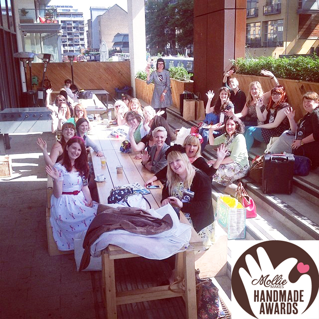 The contestants spent the afternoon crafting in the sunshine while waiting for their turn to pitch to the judges.