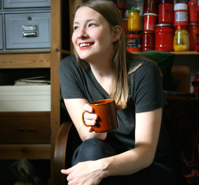 Jill at her studio