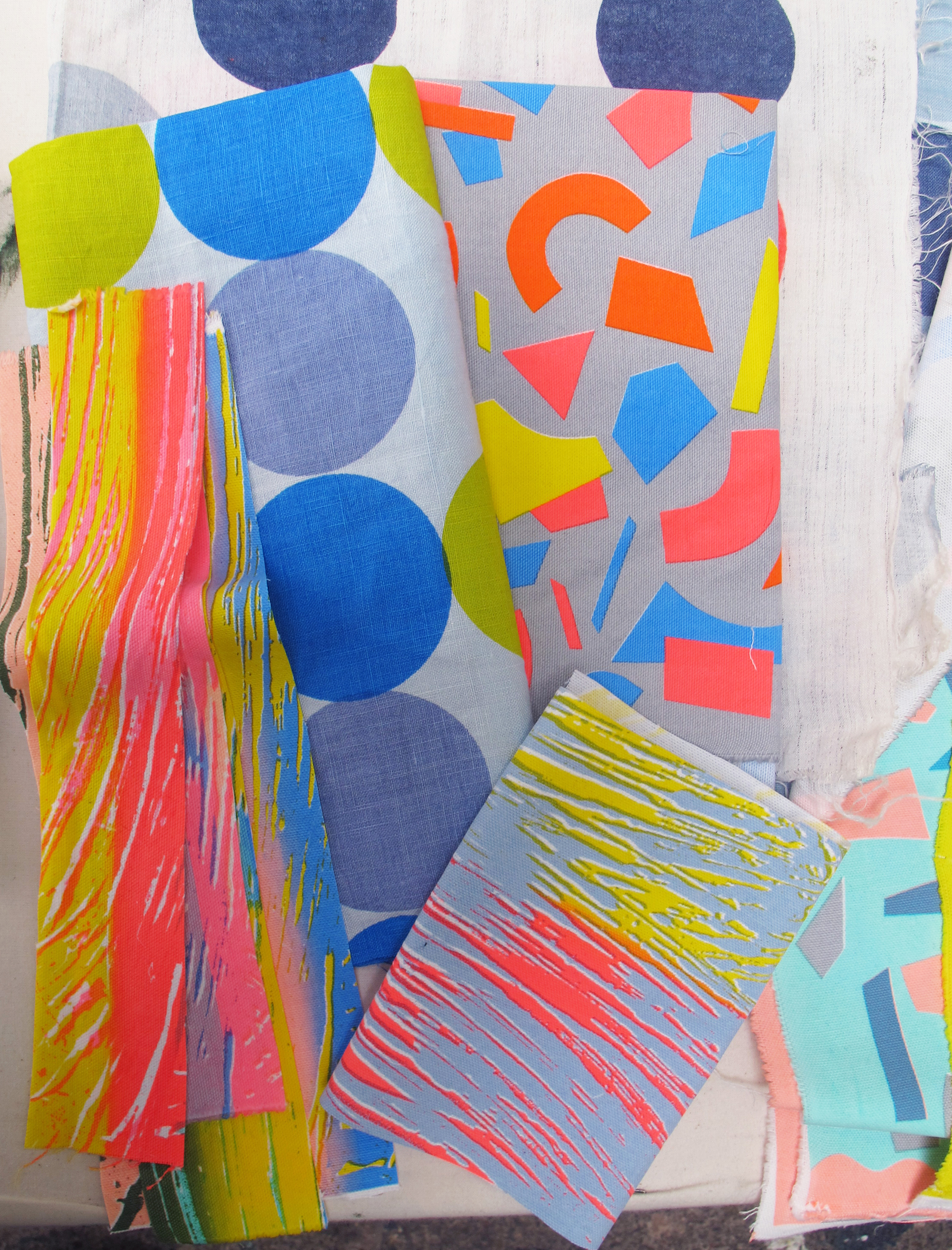 'Kangan's print samples for her new collection'