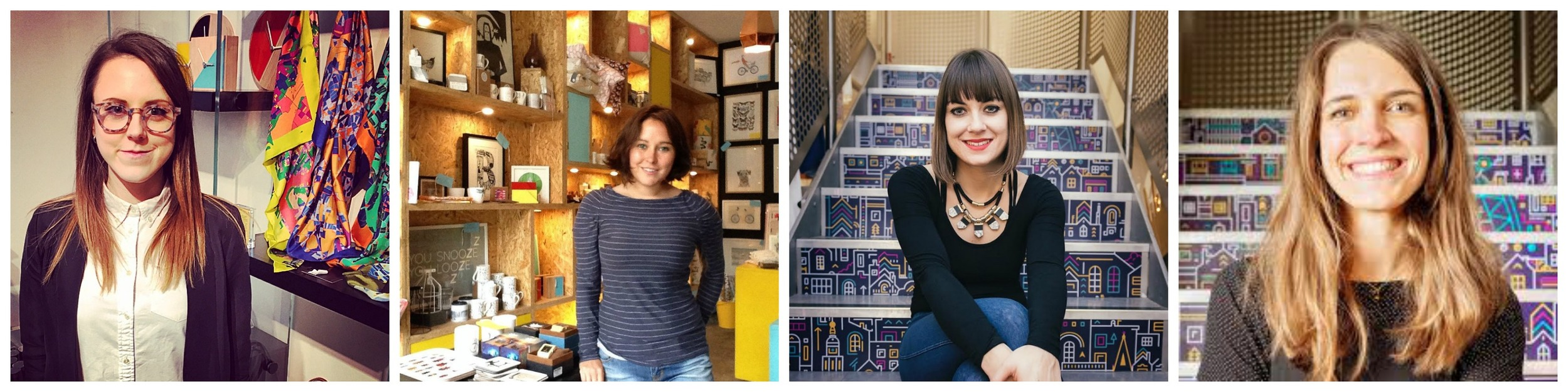 L-R: Emily Rubner, Alice Waters, Alice Mayor, Olivia Hegarty
