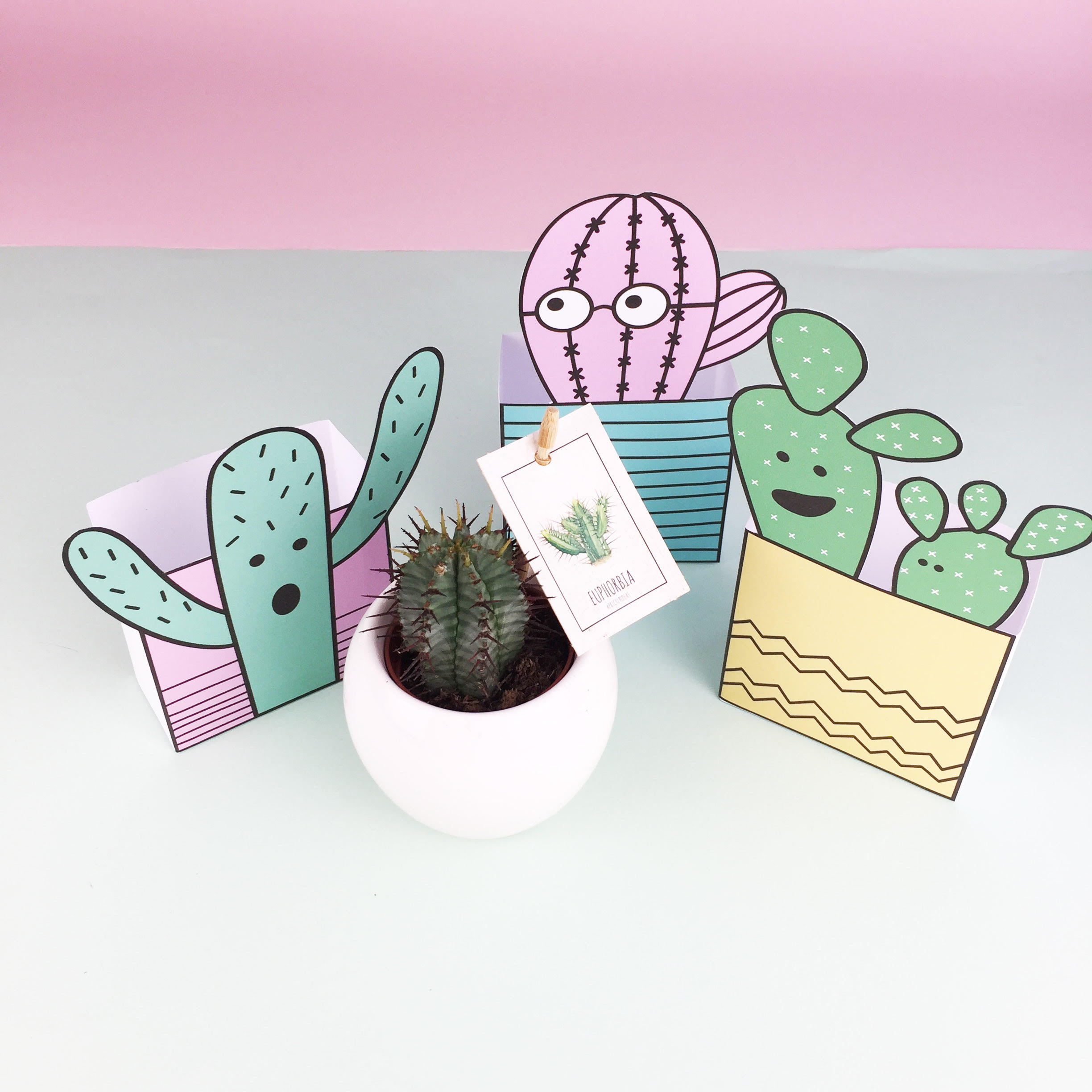 SAT: Make gift boxes with  DoodleMoo . Have fun cutting, colouring and sticking!