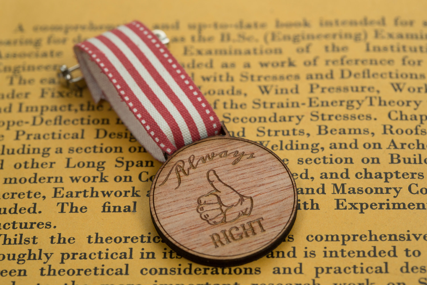 Always Right Medal of Modern Achievement from Frilly Industries