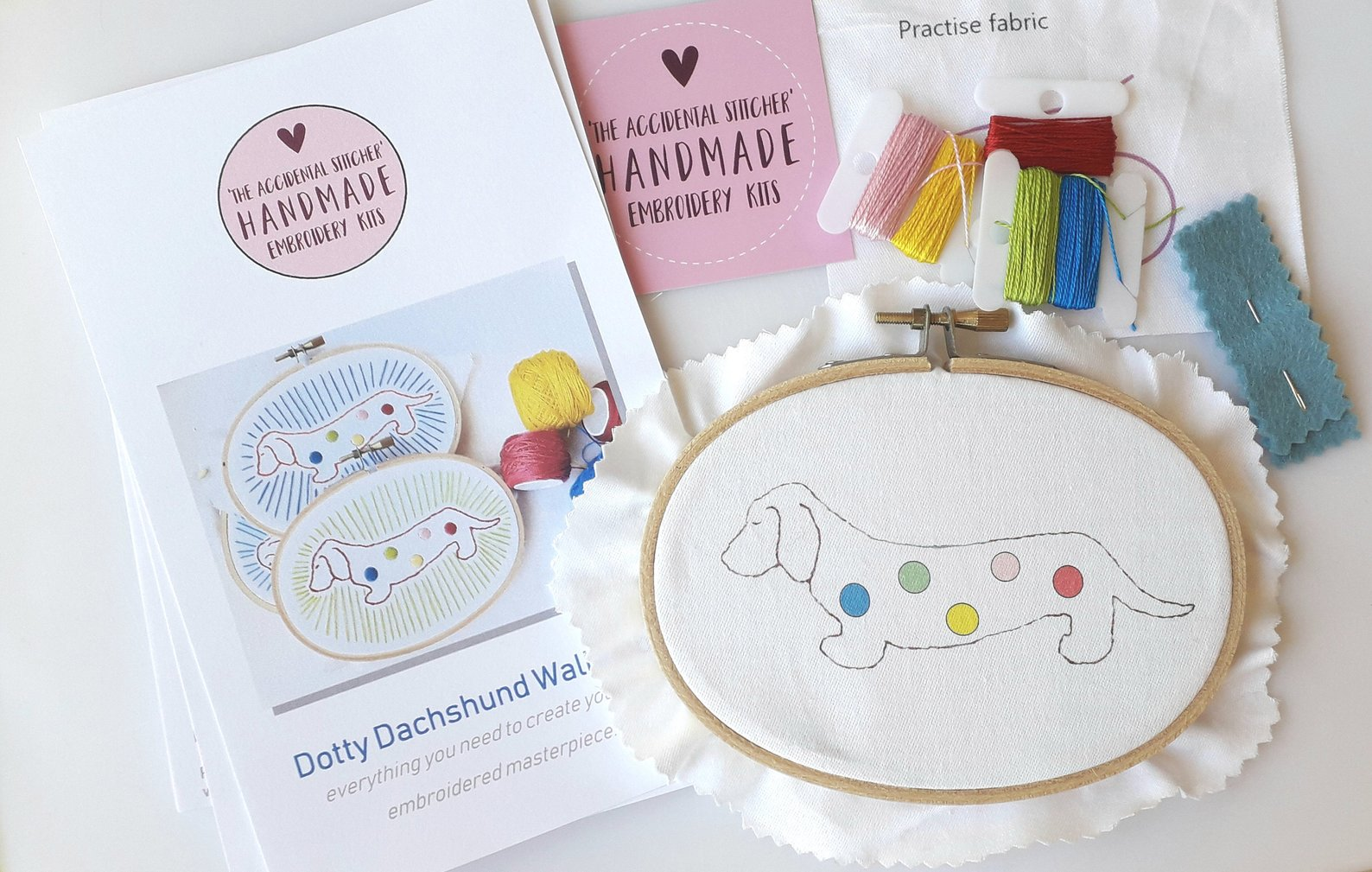 Beginners Embroidery Kit from Liz Padgham Major