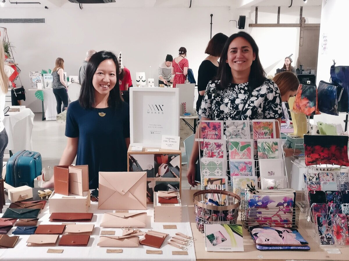 Michelle and Samantha trading beside each other at a Crafty Fox Market