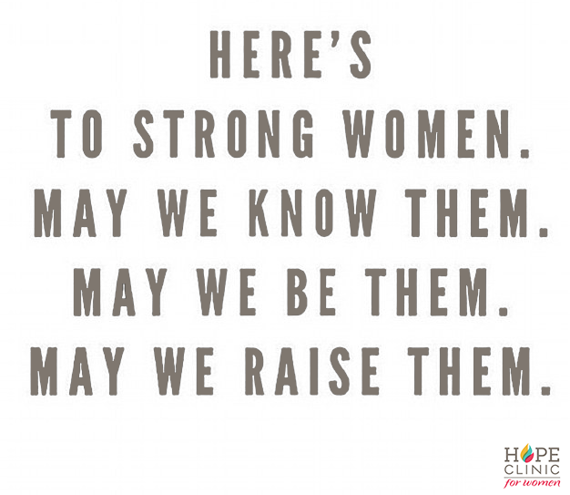 here's to strong women