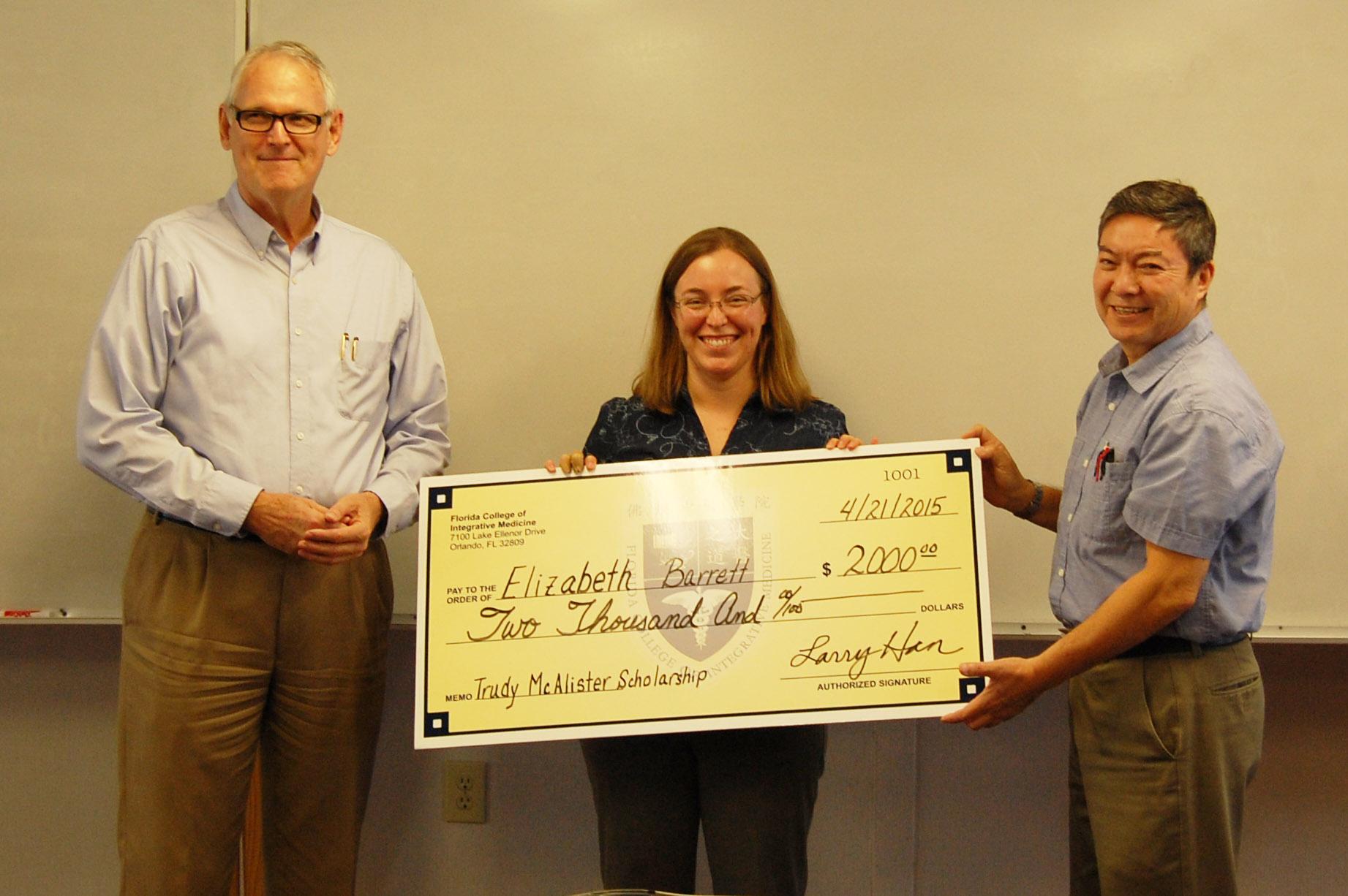 Trudy McAlister Scholarship Fund 2015 Award Recipient: Elizabeth B. Barrett