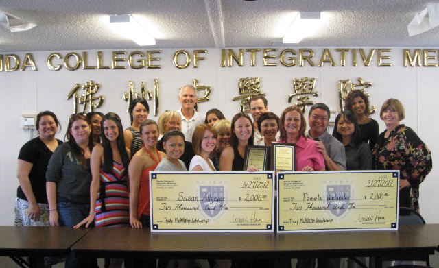 """Susan allgeyer and pam verlander both win """"trudy mcalister scholarship funds"""" in march, 2012"""