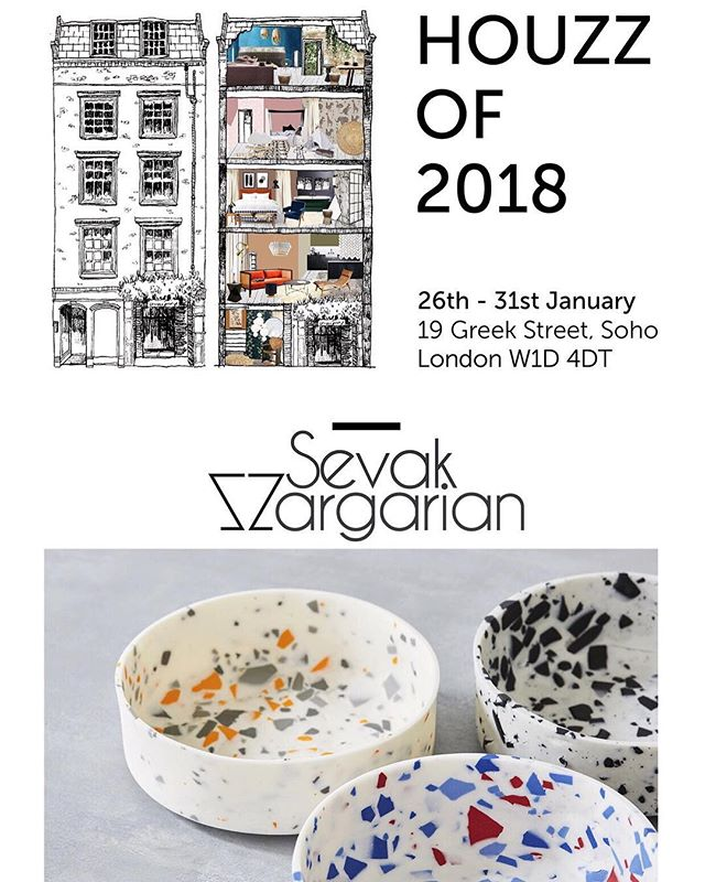 Thrilled to have my work included for #Houzzof2018. A five storey Soho townhouse (@19greekstreet ), styled by @runforthehillslondon and filled with beautiful products all available to shop there and then from @houzzuk . A week long pop-up installation bringing to life the hottest home design trends @houzz expects to see in 2018.  26-31 Jan, 11am-9pm (Sat 6pm close)  19 Greek Street, London, W1 4DT.  www.houzzof2018.com