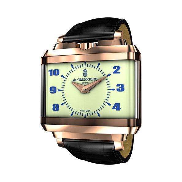 New Retro Armbanduhr   Armbanduhr aus der Kollektion  New Retro in 18 Karat Roségold.
