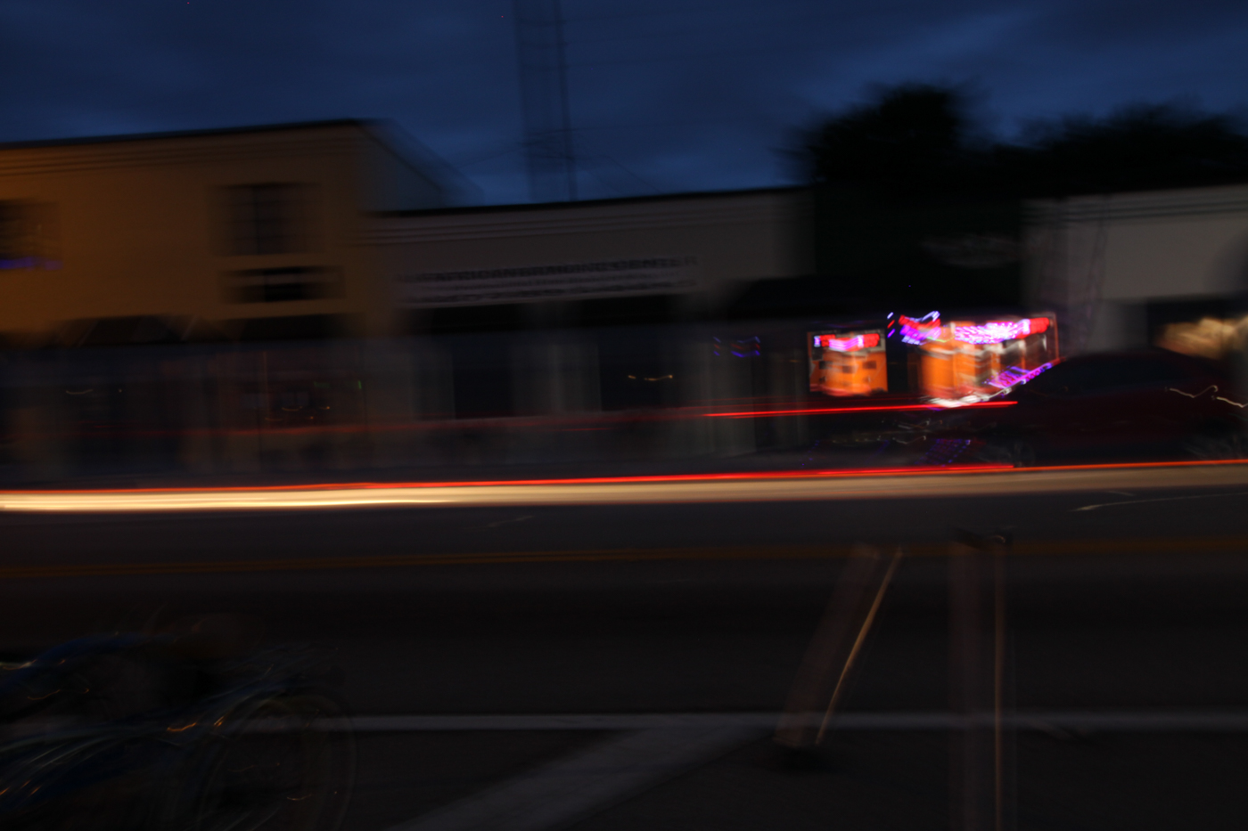 Experimenting with long shutter speeds and panning. Photo by student Frank Paradiso