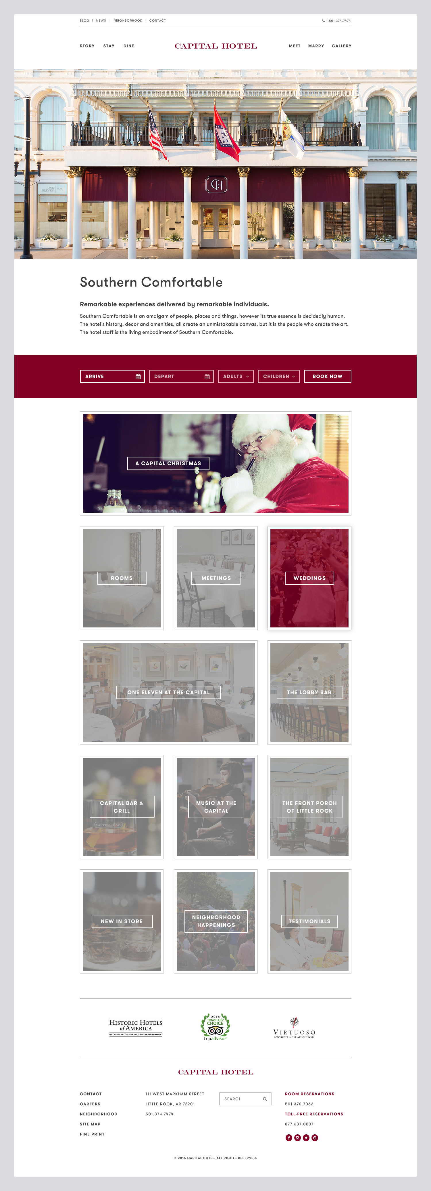 Capital Hotel Website -