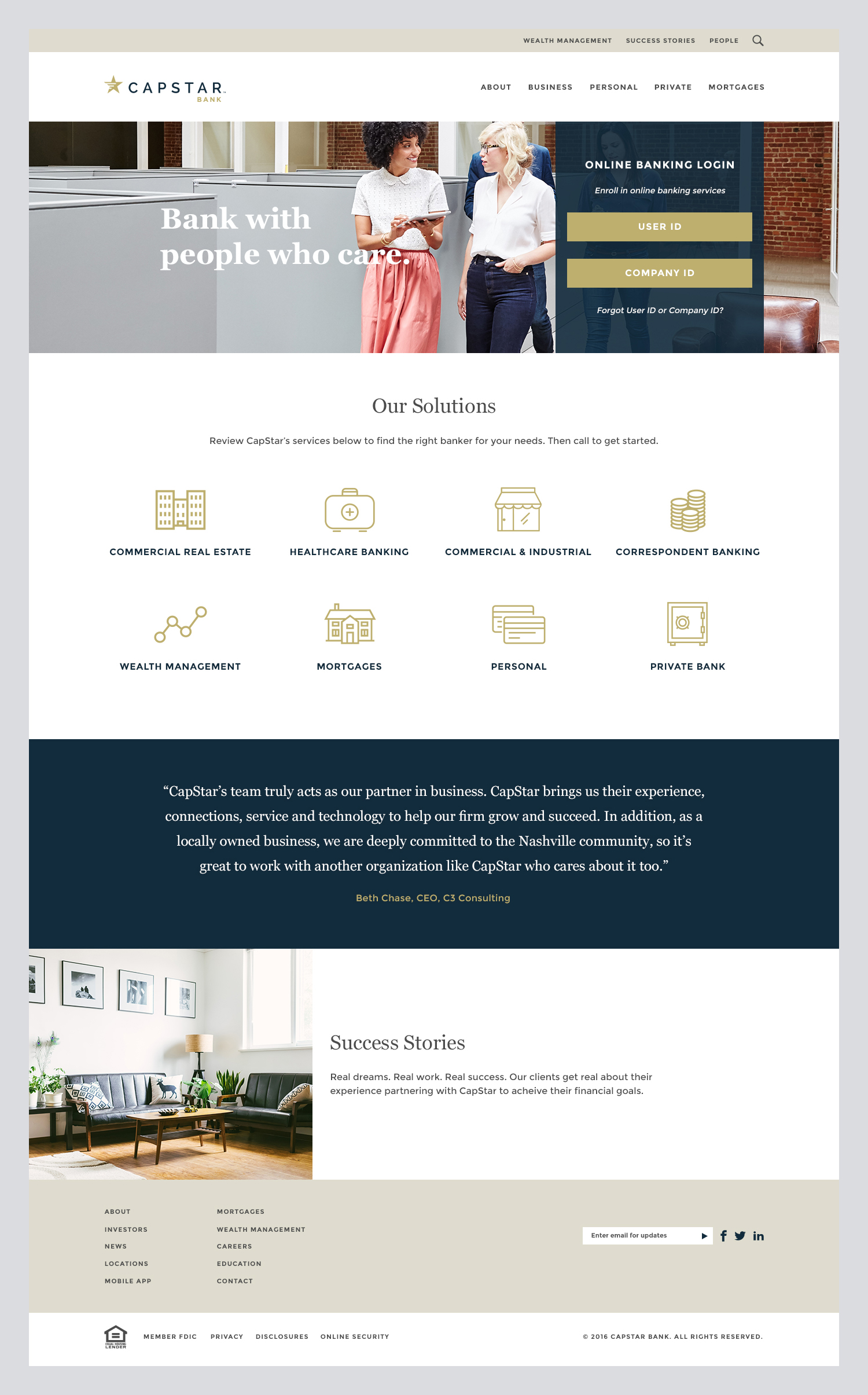 CapStar Bank Website -