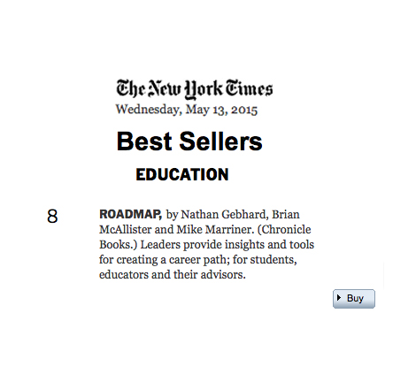One of the most inspiring writing gigs I've ever worked on was working with these three great guys (and their amazing, committed team at Roadtrip Nation) to help them shape and craft their latest book. I'm so stoked to see it on the Times Education Bestseller List. Find out more about  the book here .
