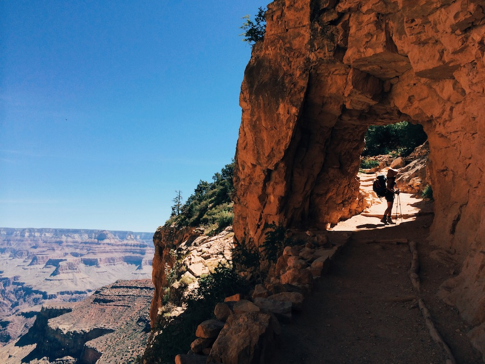 Tunnel at Bright Angel Trail