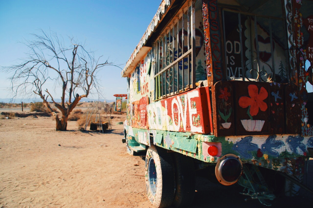 Decorated truck, Salvation Mountain