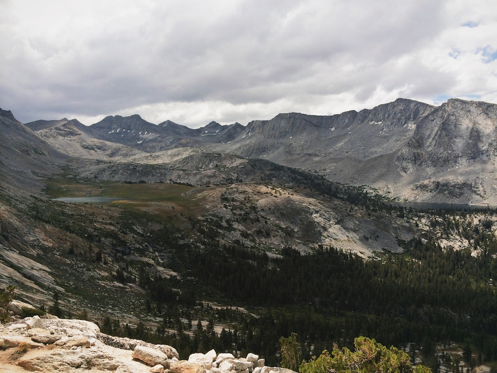 The view from Vogelsang Pass.