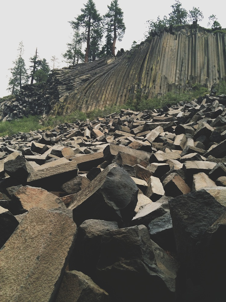 Devil's Postpile, protected by national monument status, is a fascinating example of columnar basalt (or, in plain English, columns made when cooling lava cracked vertically).