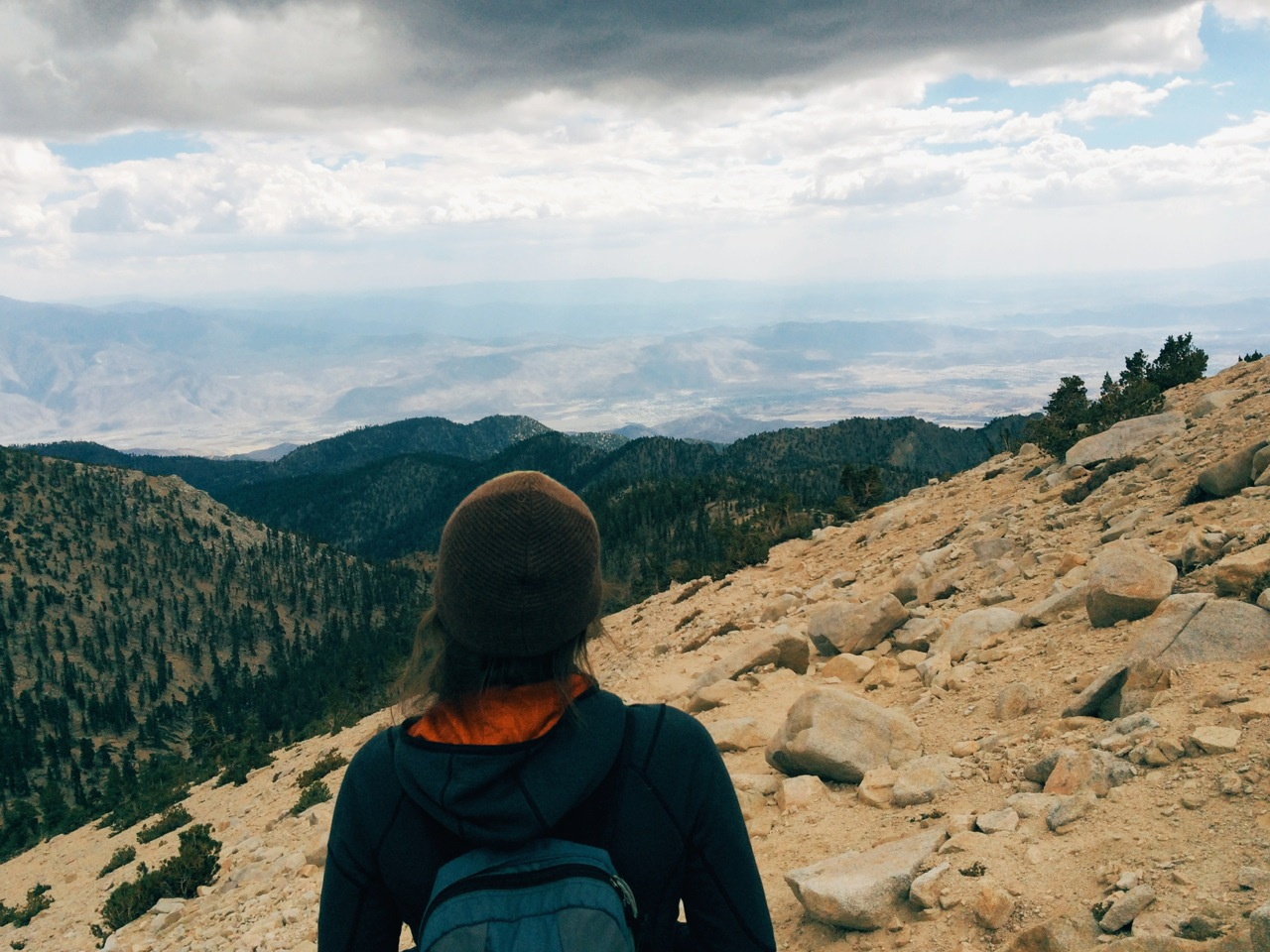 The views from the top, and on the way down, were amazingly expansive despite the hazy weather. We saw out to San Jacinto Peak (second tallest in So Cal), Big Bear Lake, Joshua Tree, and south all the way into Mexico.
