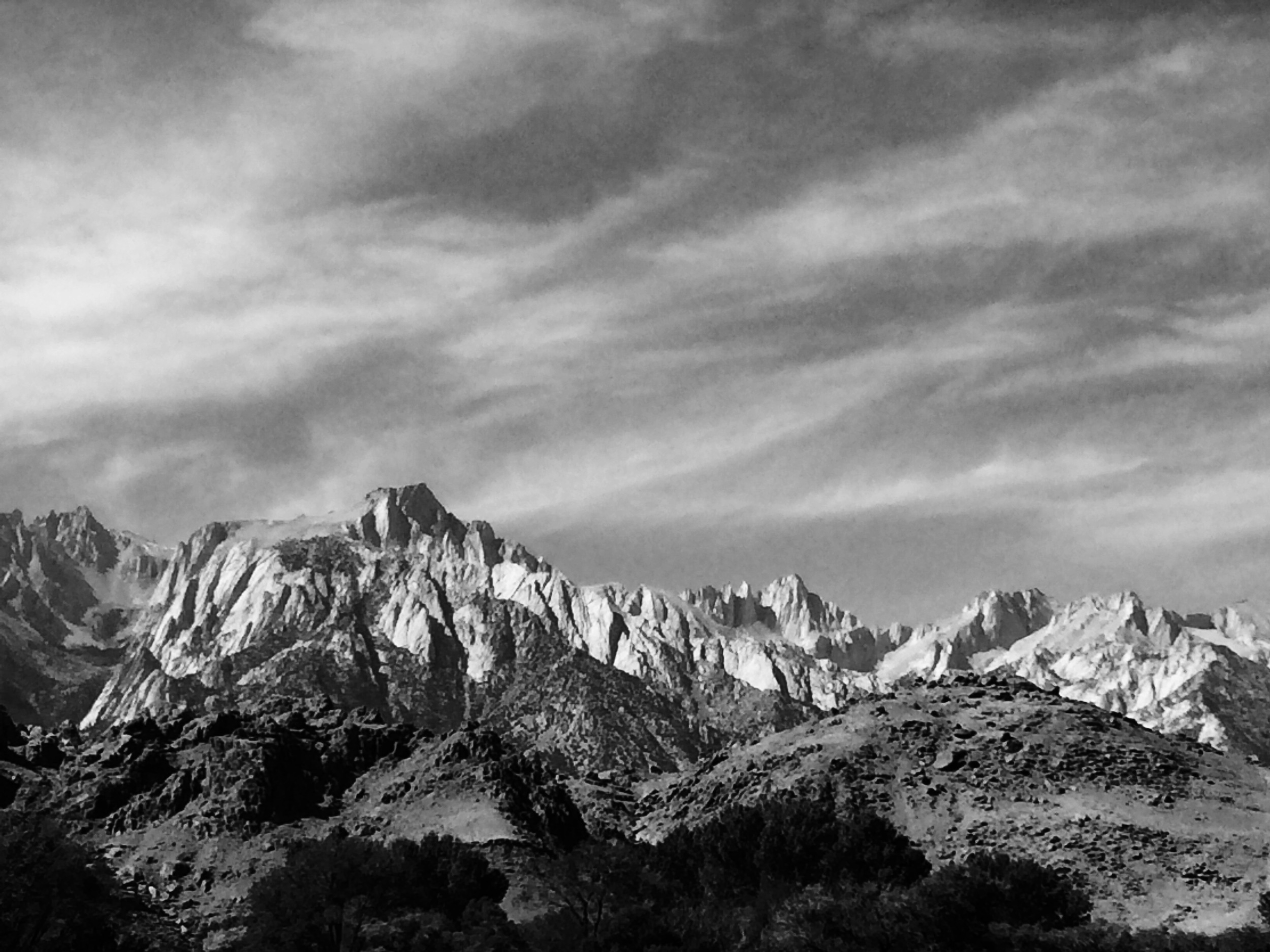 Mt. Whitney as seen from the Interagency Visitor Center in Lone Pine, where hikers go to pick up their permits.