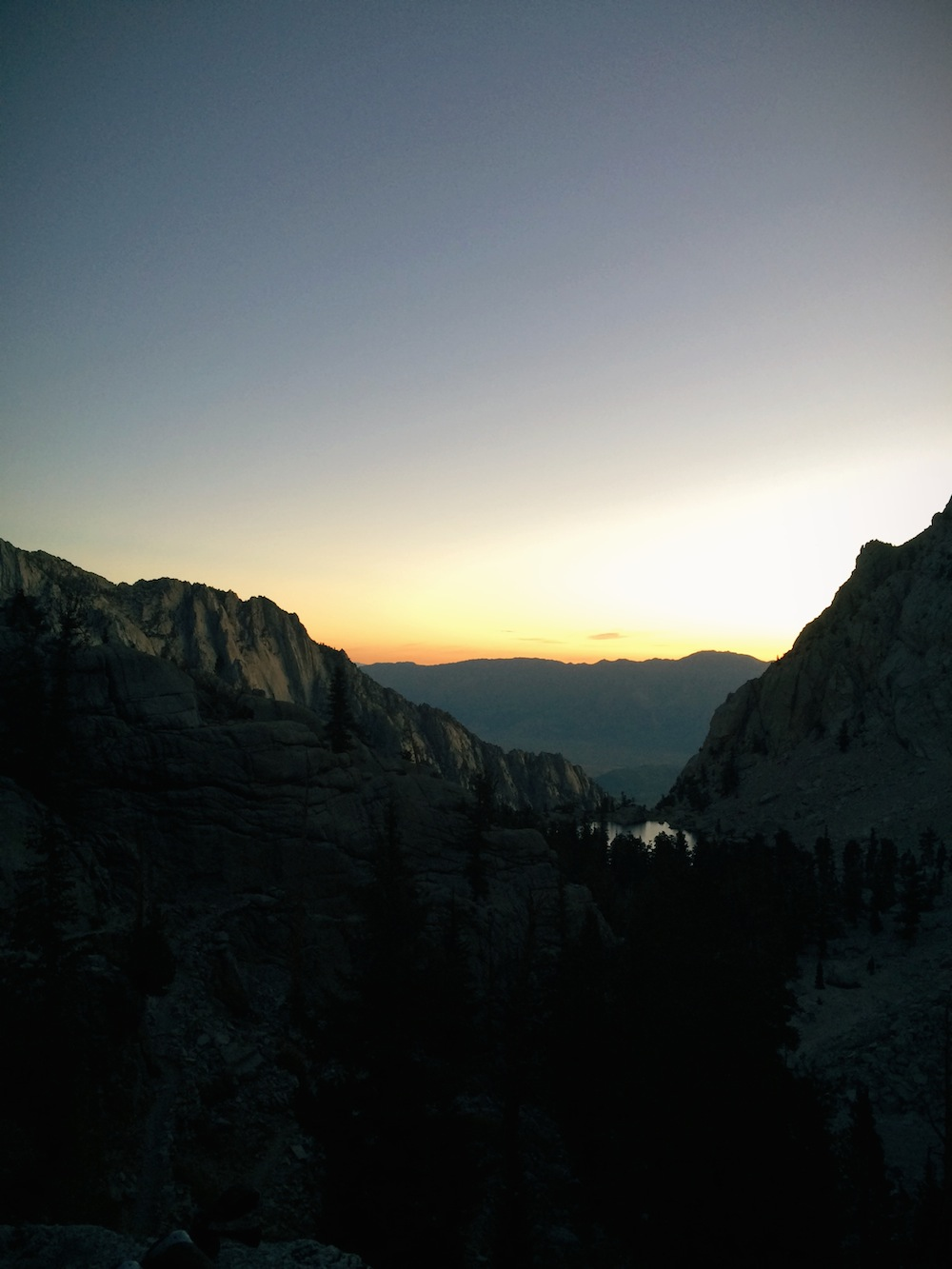Sunrise over Owens Valley.