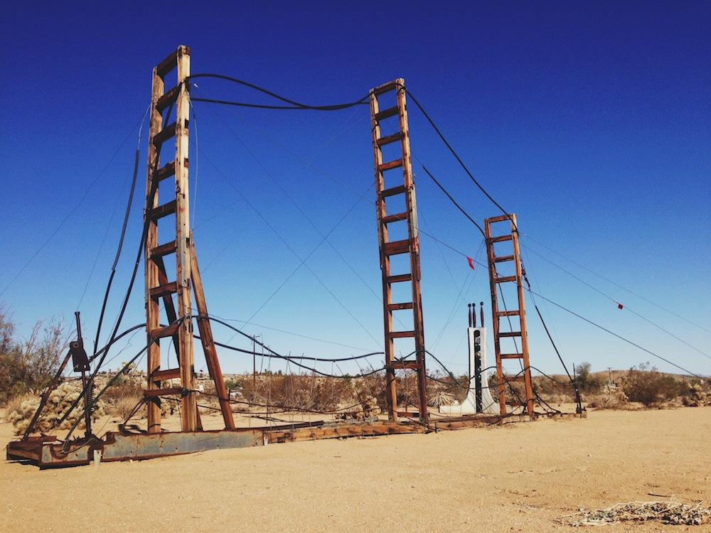 """San Francisco-Oakland Bridge"" -Noah Purifoy's Desert Art Museum of Assemblage Sculpture"