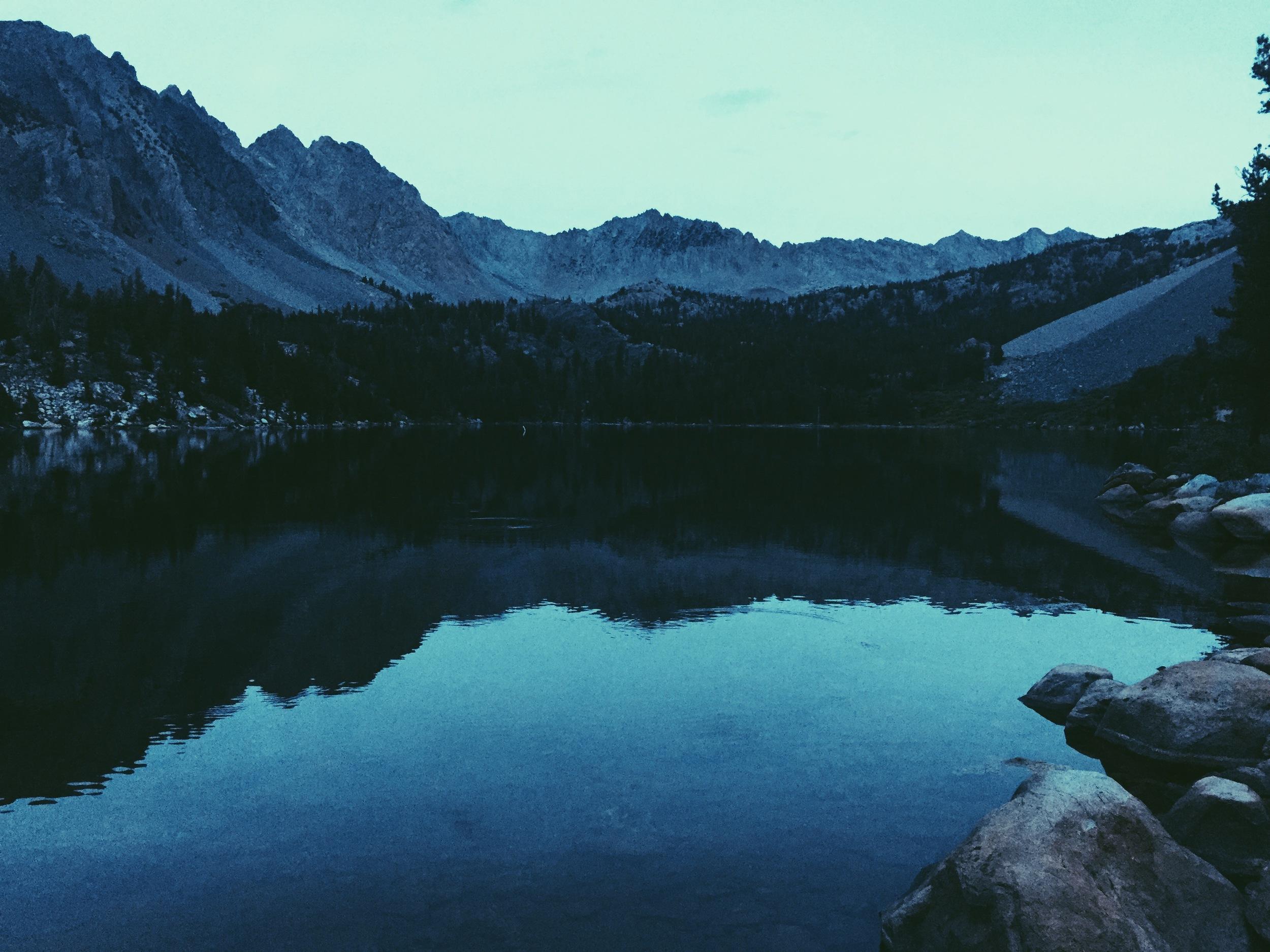Twilight at Purple Lake.
