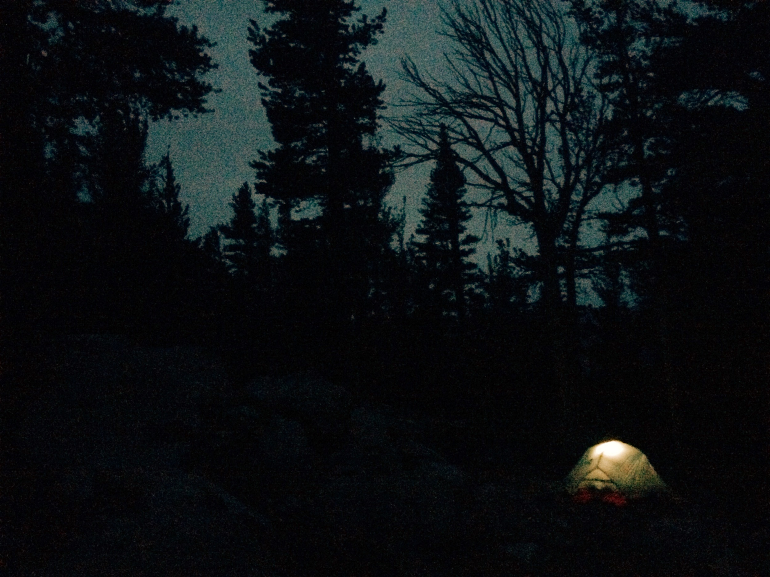 Day 5: Camping above Purple Creek.