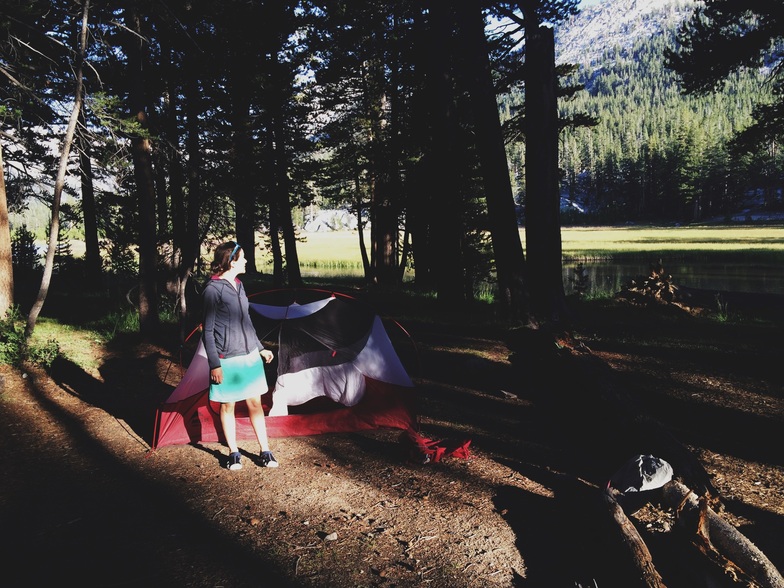 Day 9: camping on the edge of McClure Meadow.