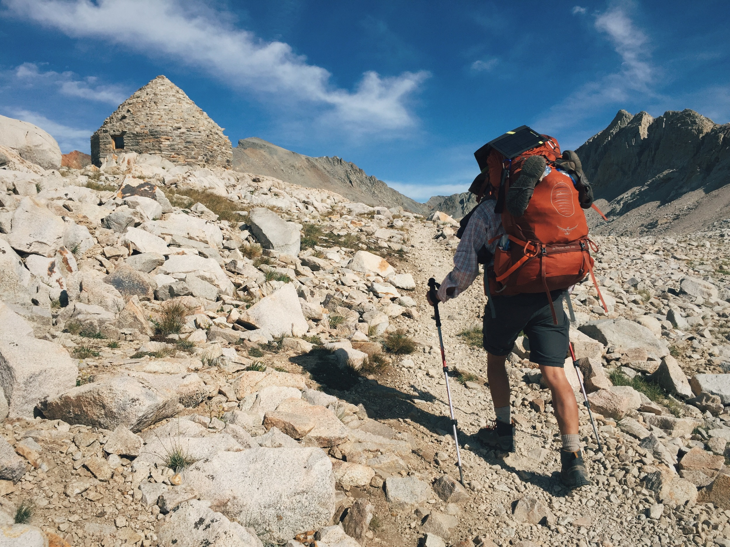 Taking the last few steps up to Muir Pass (11,955').