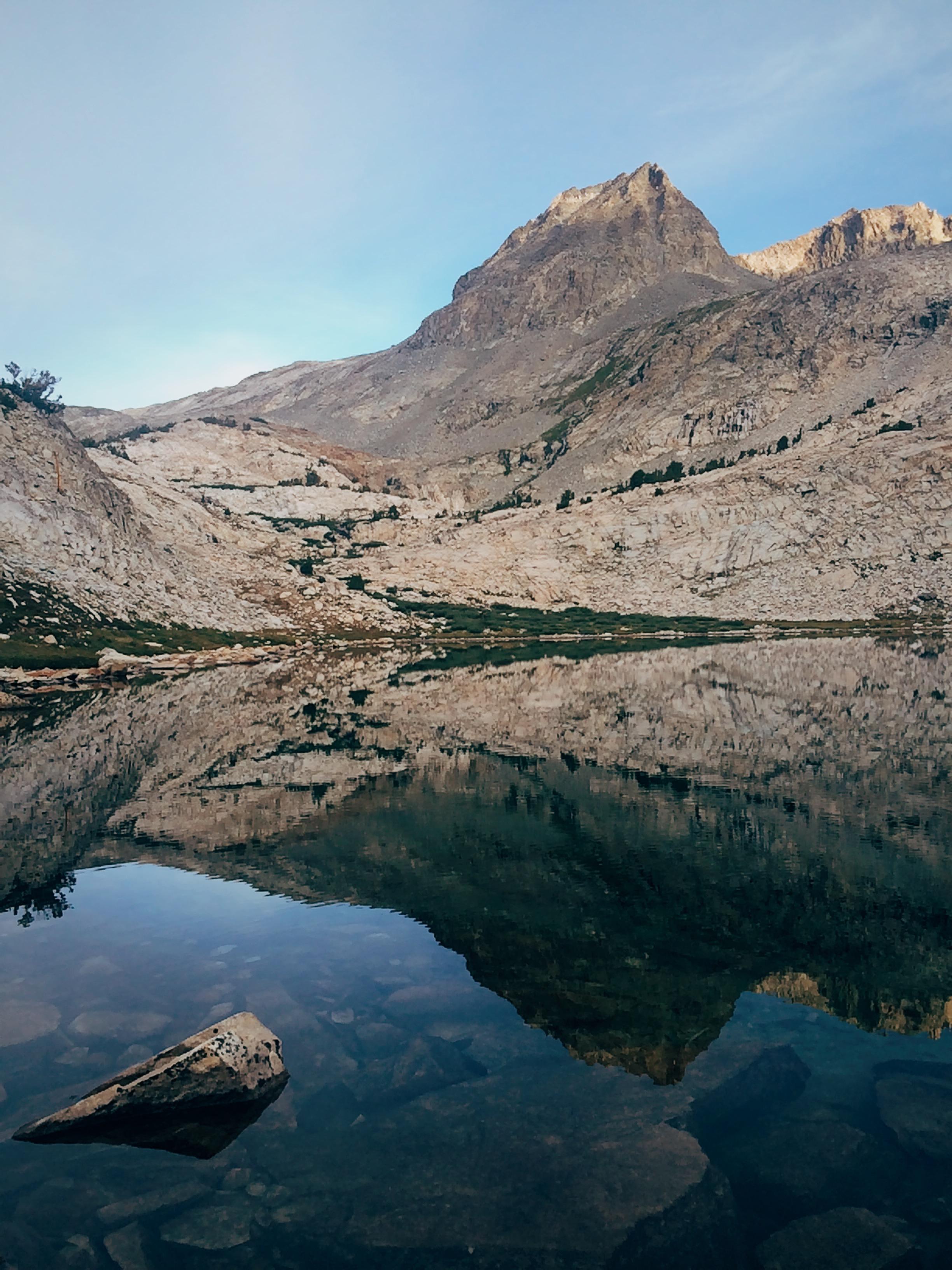 Stunning views at the unnamed lake at 10,800'.