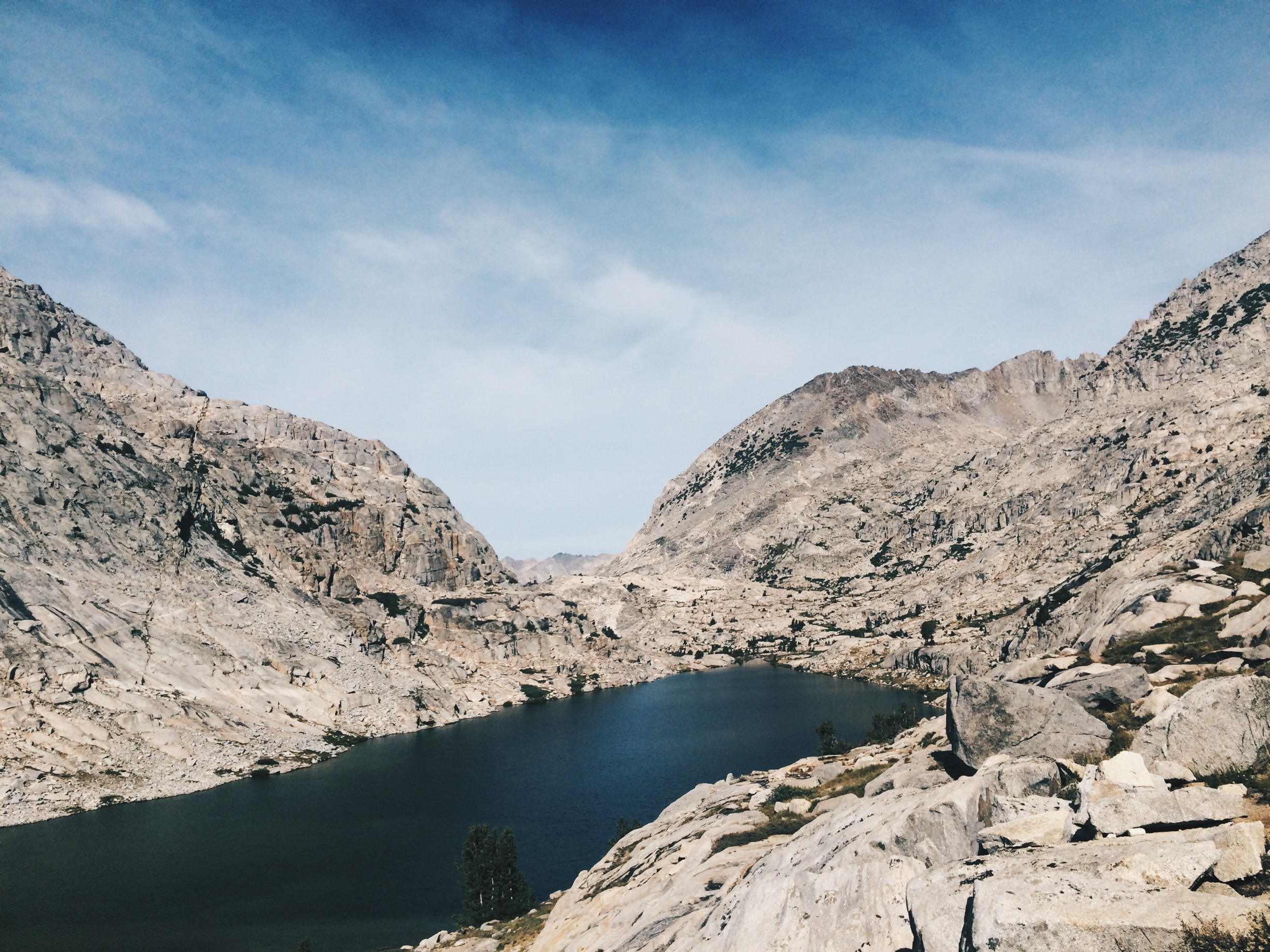 Lower Palisade Lake, at the top of the Golden Staircase.