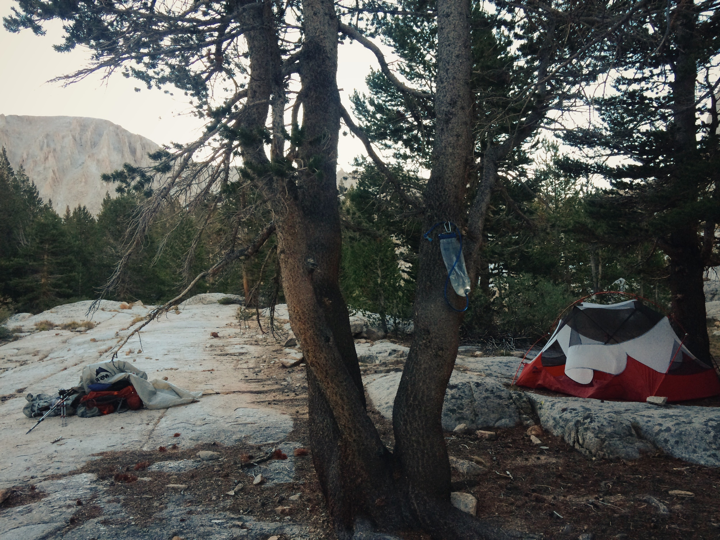 Day 17: camped at Timberline Lake.