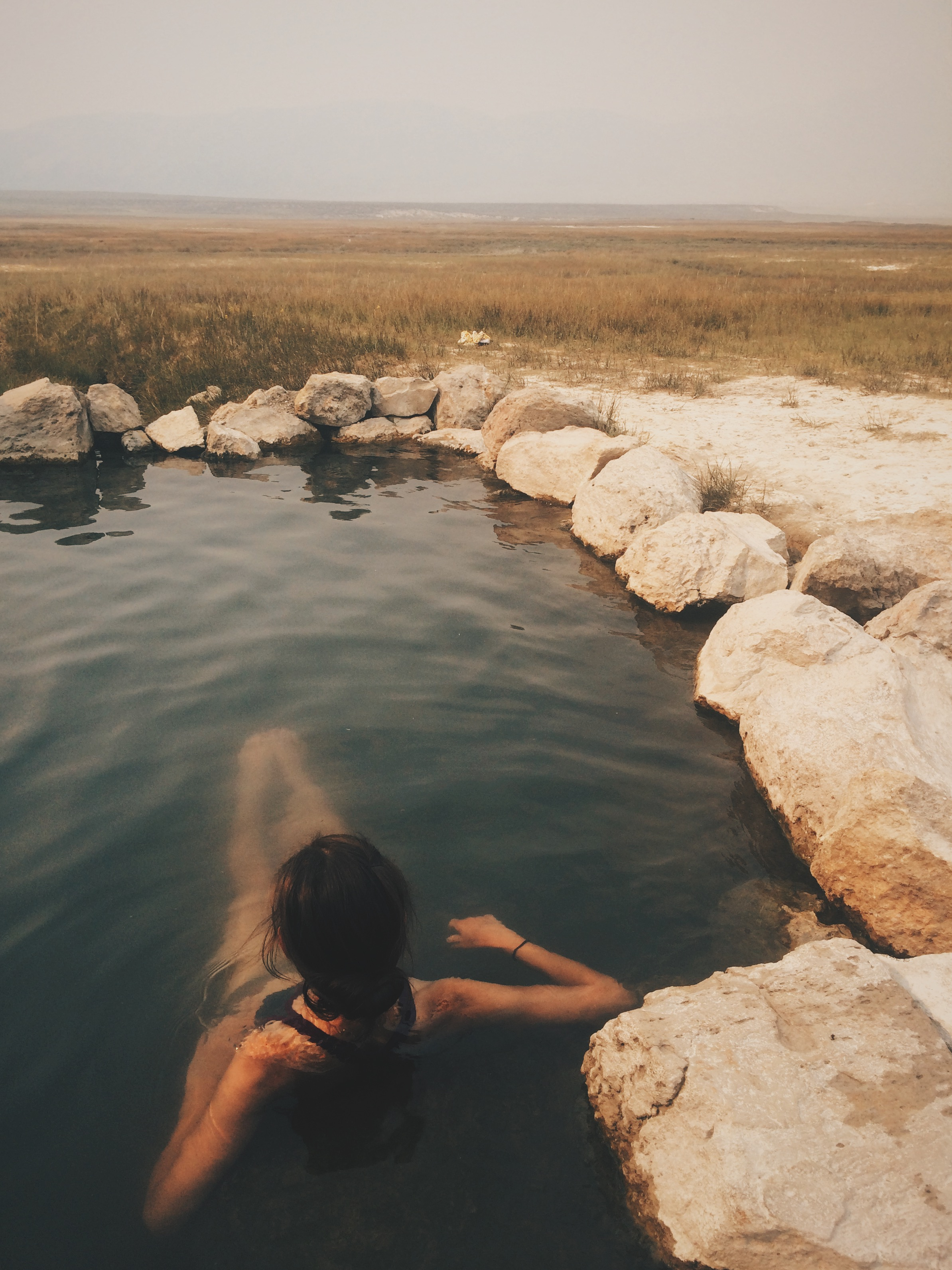A well-deserved post-summit soak at Crowley Hot Springs in Owens Valley.