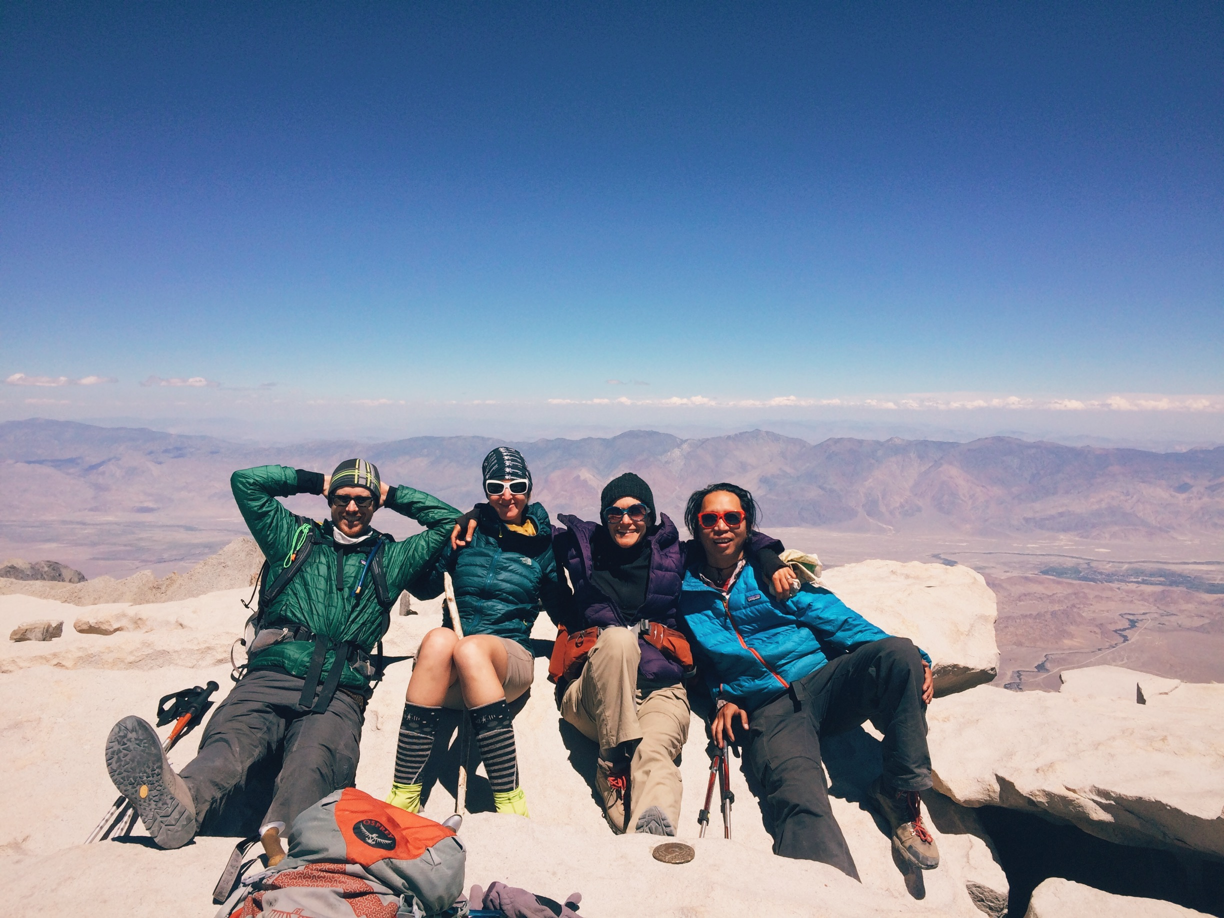 Glowing with accomplishment and UV radiation at 14,505 feet.