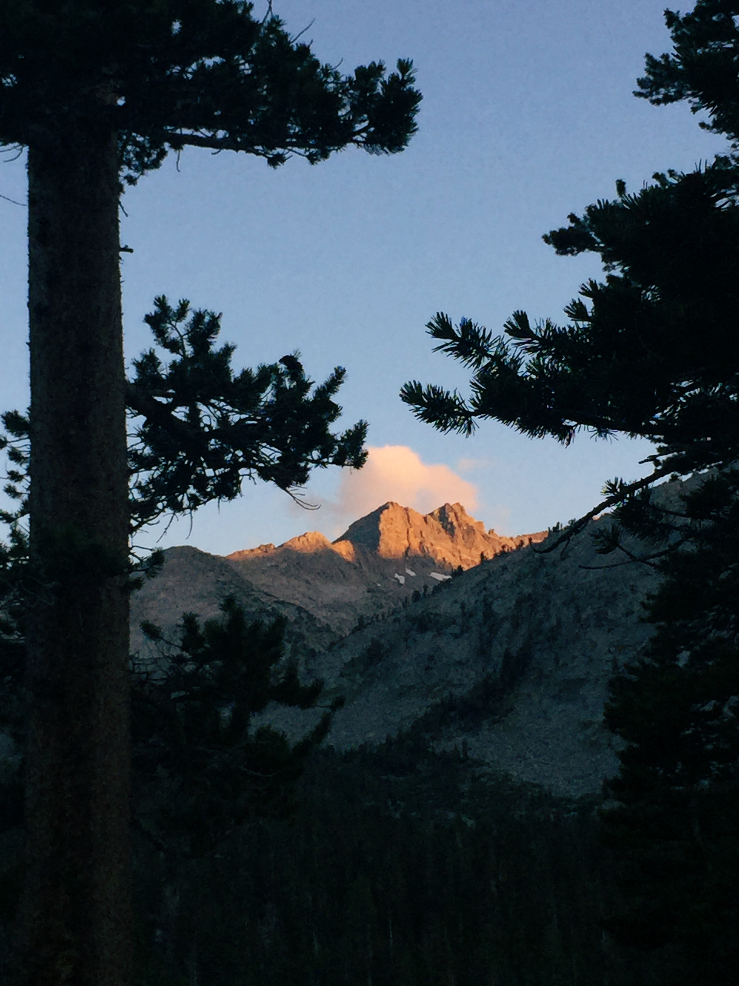 First night's alpenglow.