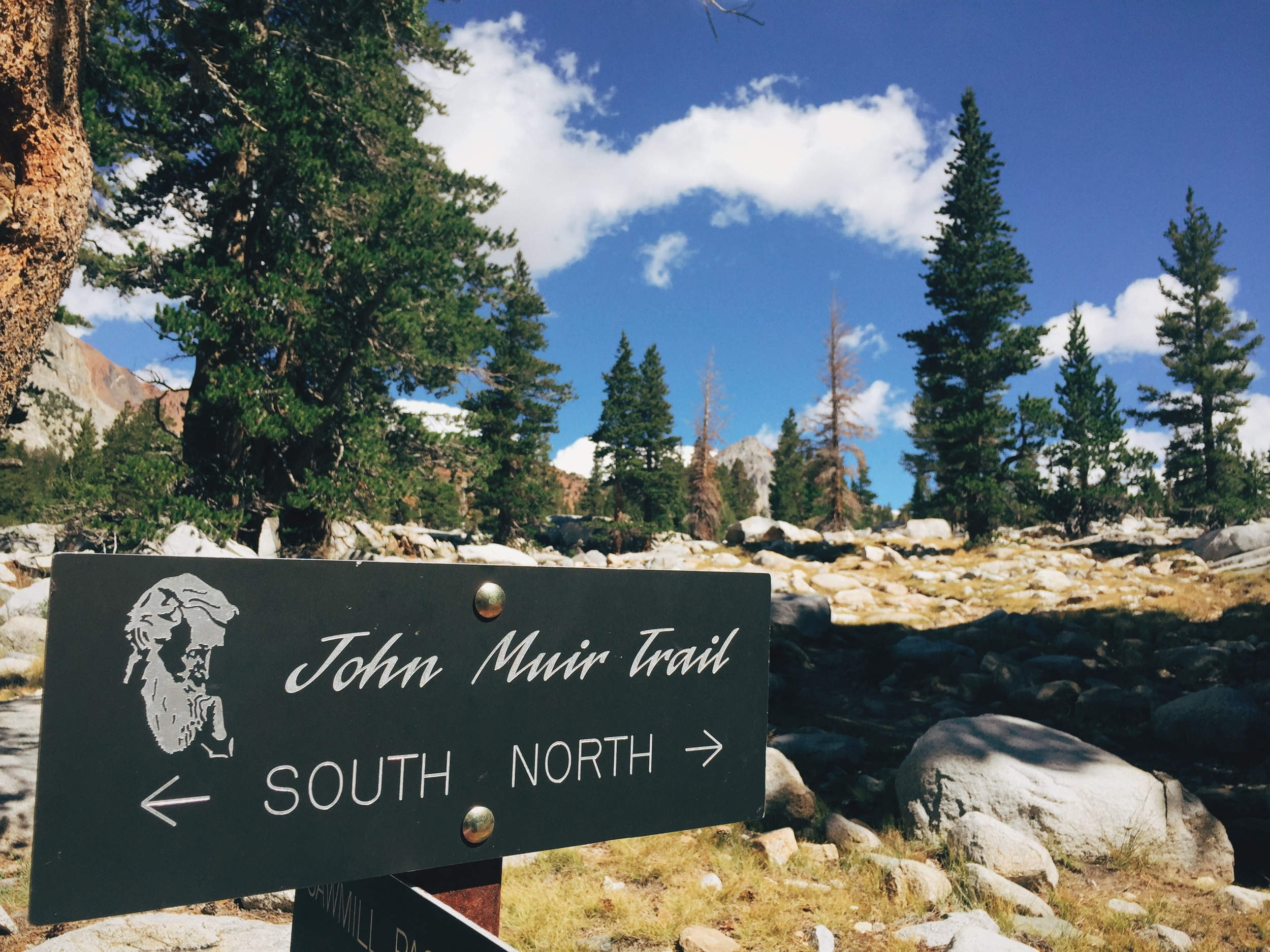 At Sawmill Pass junction, a few miles south of Pinchot Pass.