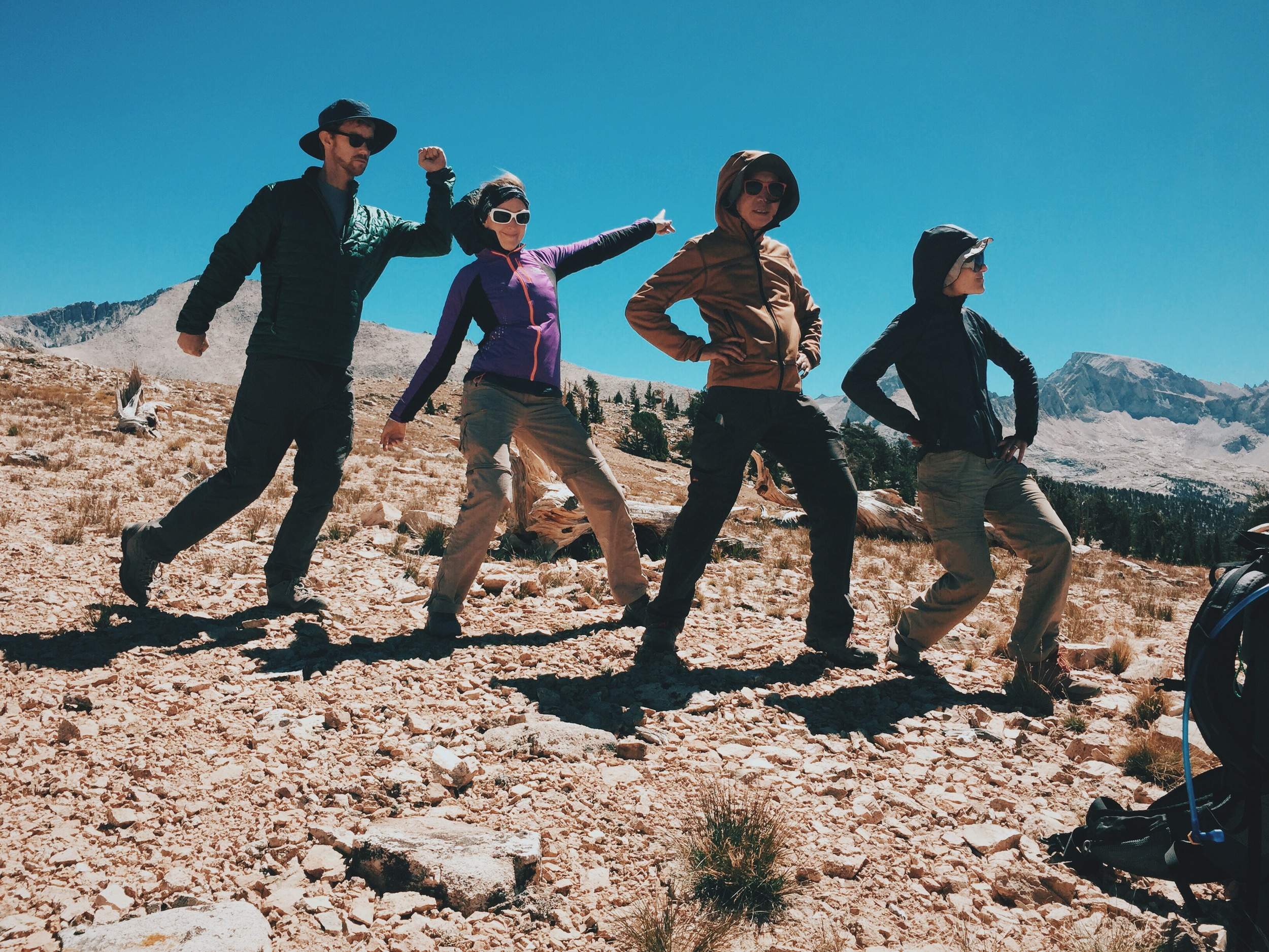 Silliness sets in at Bighorn Plateau.